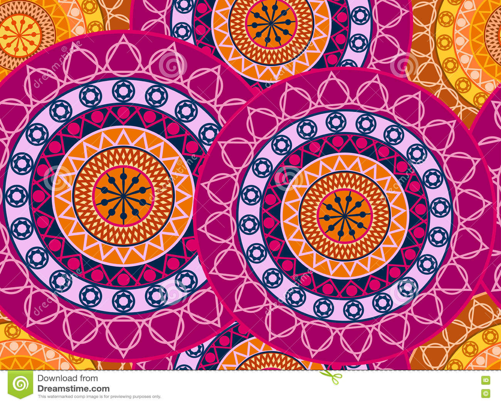 mandala nahtloses muster geometrisches muster in der buddhistischen und hindischen art vektor. Black Bedroom Furniture Sets. Home Design Ideas