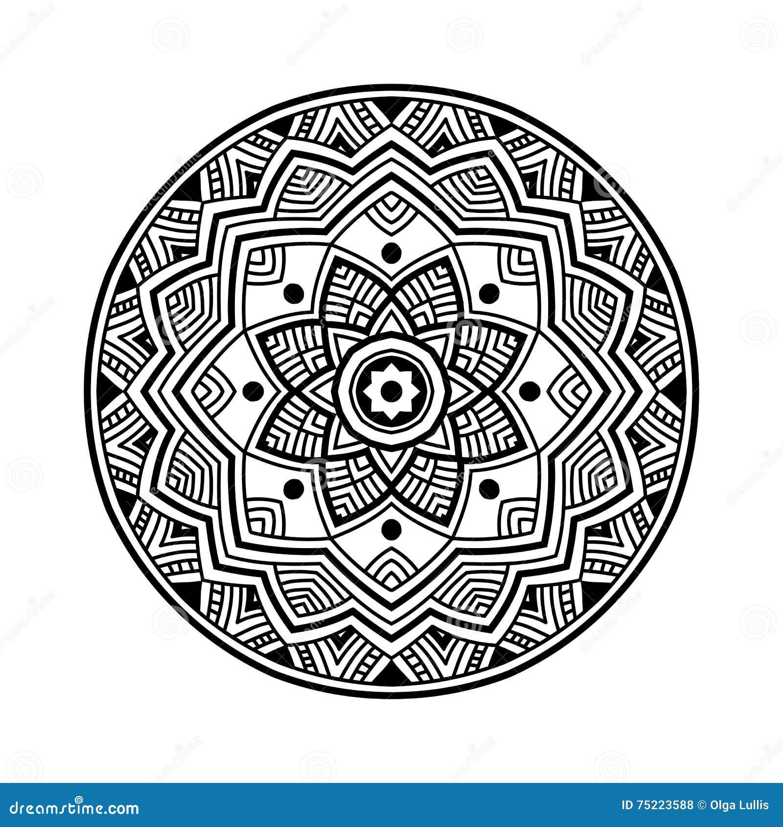 mandala noir de cercle illustration de vecteur image. Black Bedroom Furniture Sets. Home Design Ideas