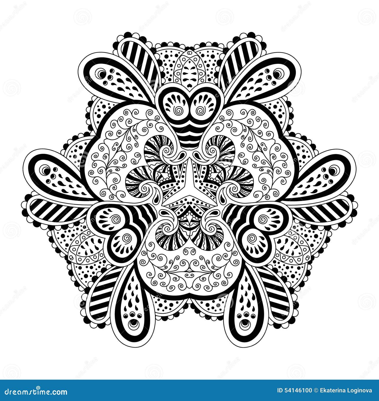 mandala noir et blanc illustration de vecteur image du. Black Bedroom Furniture Sets. Home Design Ideas