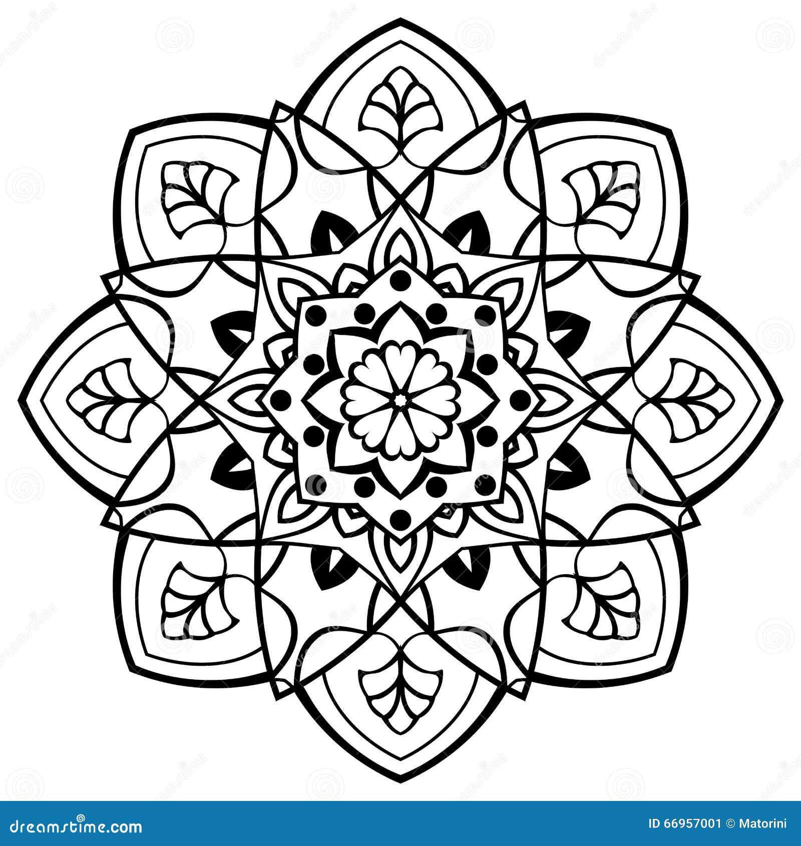 Mandala Oriental Simple Illustration Vecteur