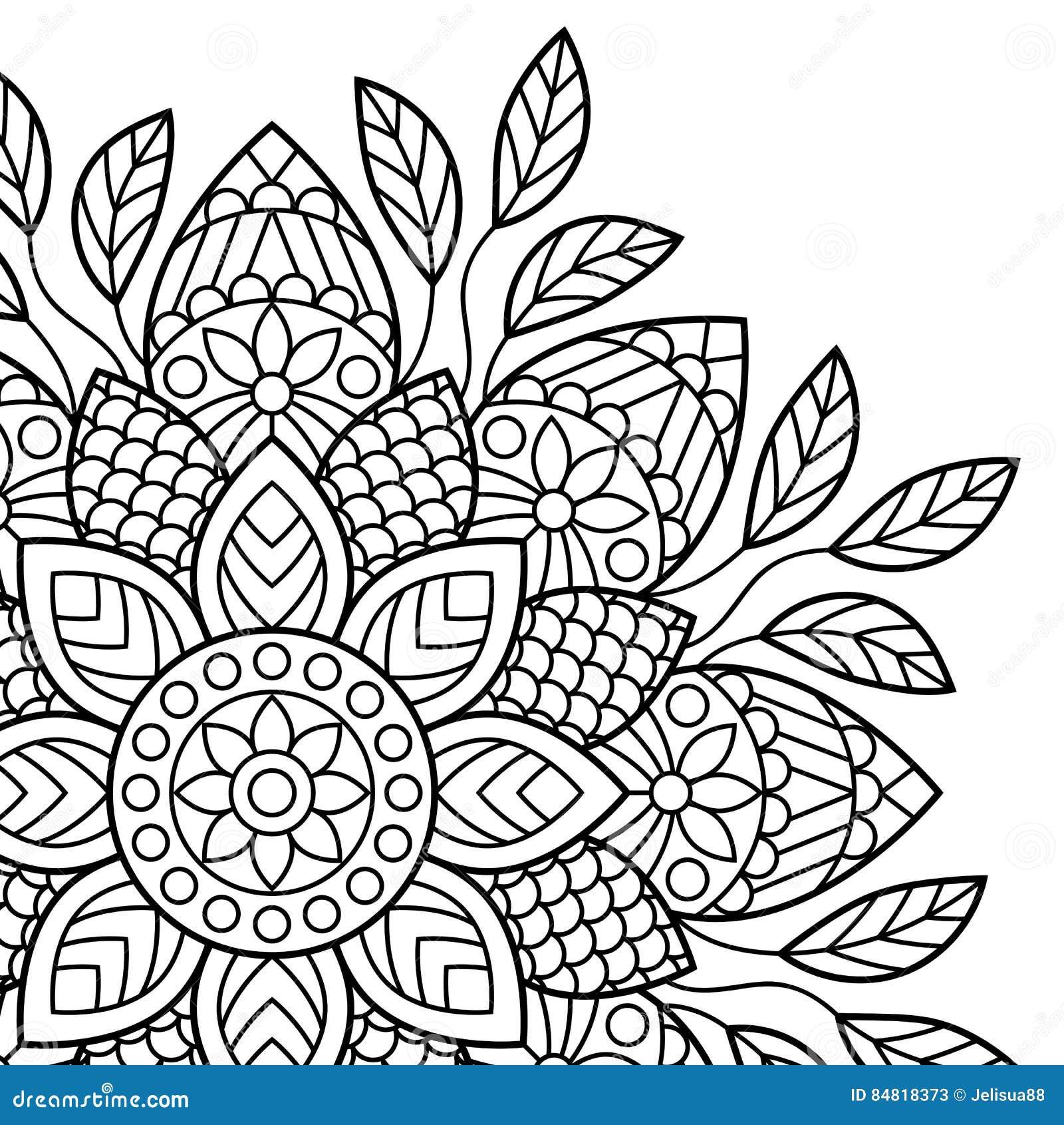 Mandala pagine del libro da colorare illustrazione - Immagini di colorare le pagine del libro da colorare ...
