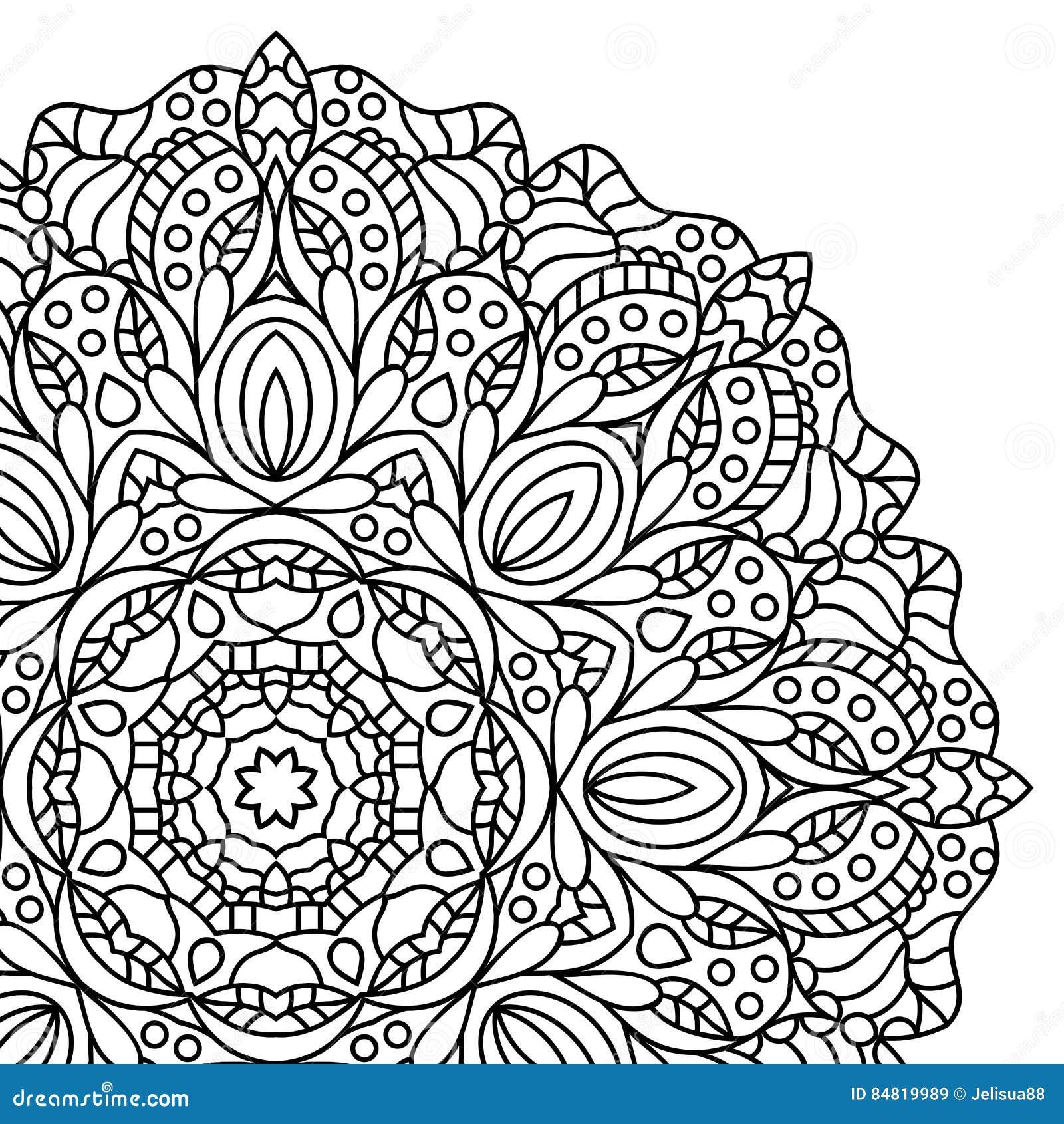 Mandala pagine del libro da colorare illustrazione - Adulto da colorare elefante pagine da colorare ...