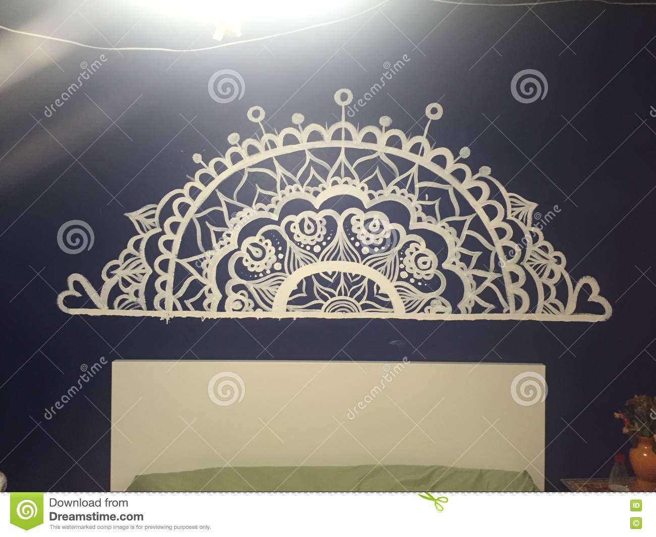 Mandala Painting Stock Photo Image Of Pretty Painting 71161114