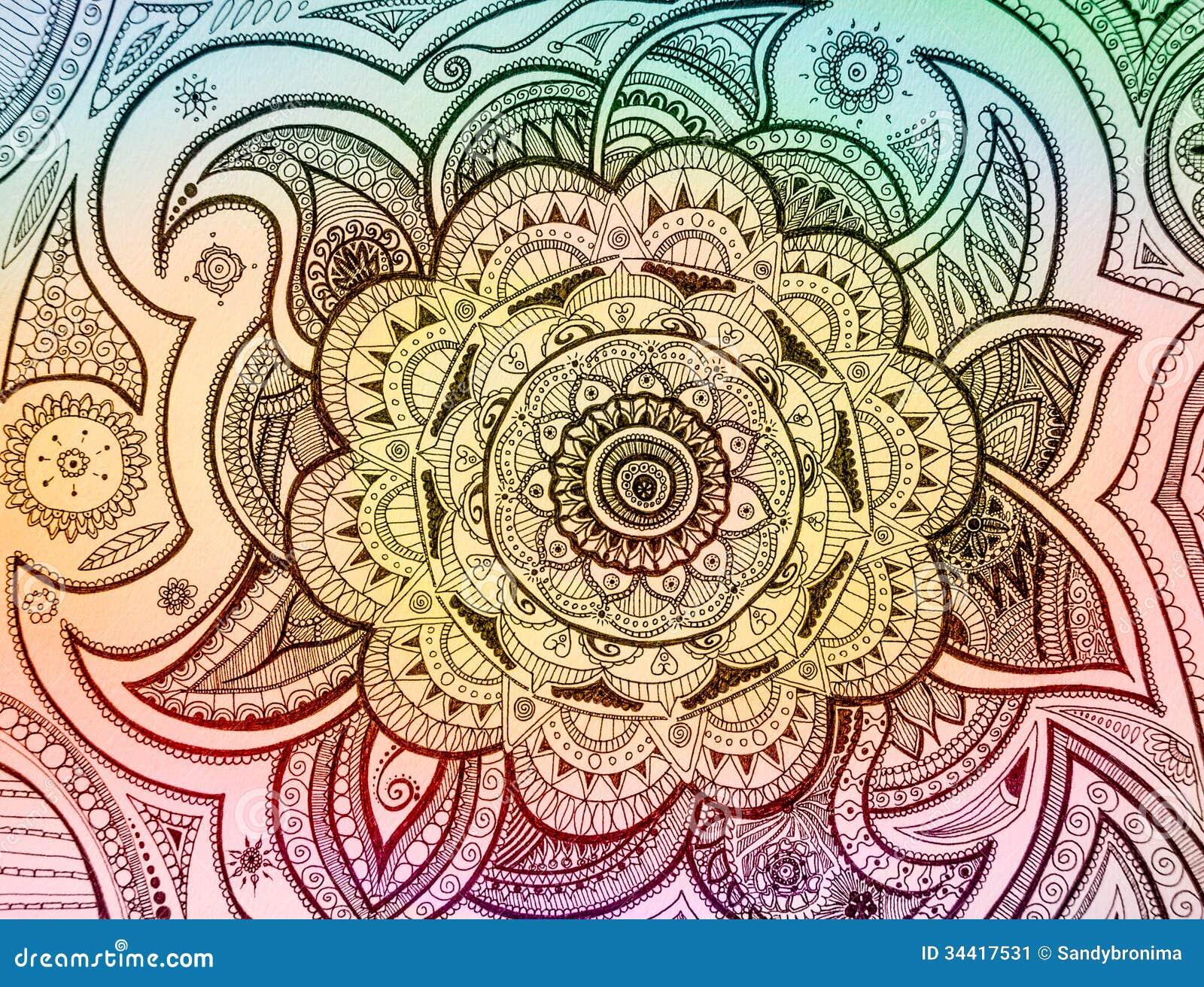 mandala paisley stock image   image 34417531