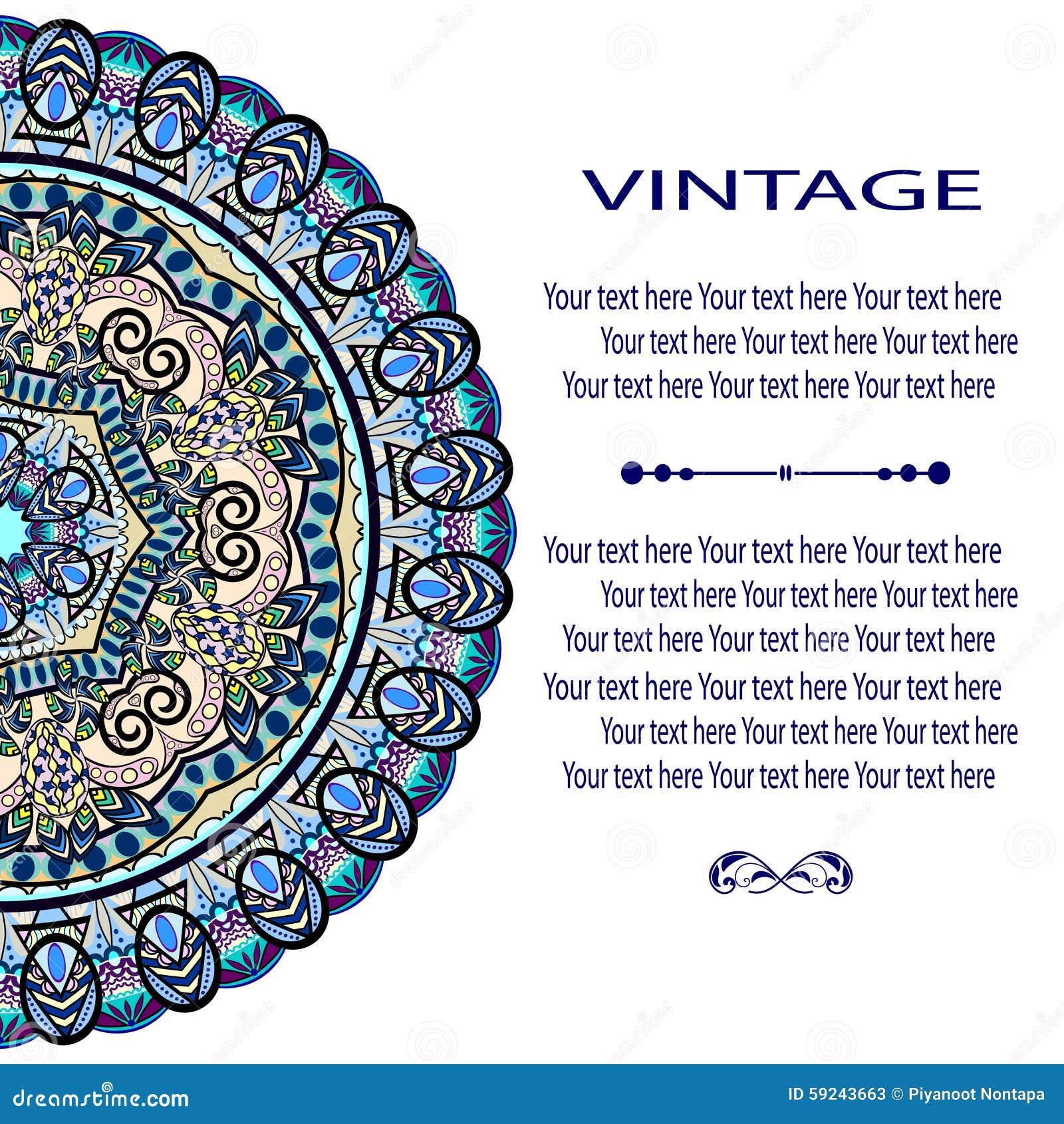 Download Mandala Pattern ilustración del vector. Ilustración de étnico - 59243663