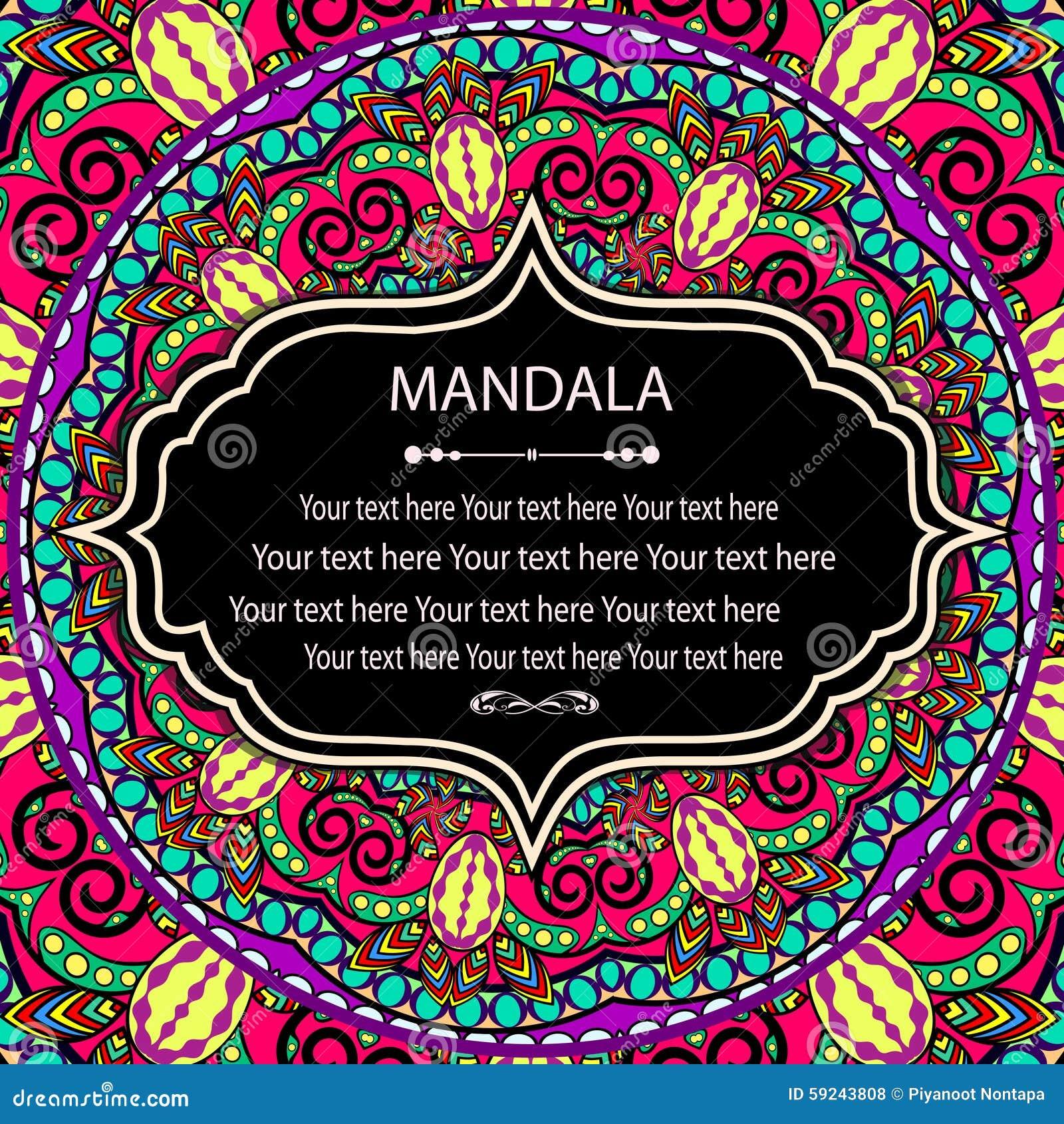 Download Mandala Pattern ilustración del vector. Ilustración de floral - 59243808