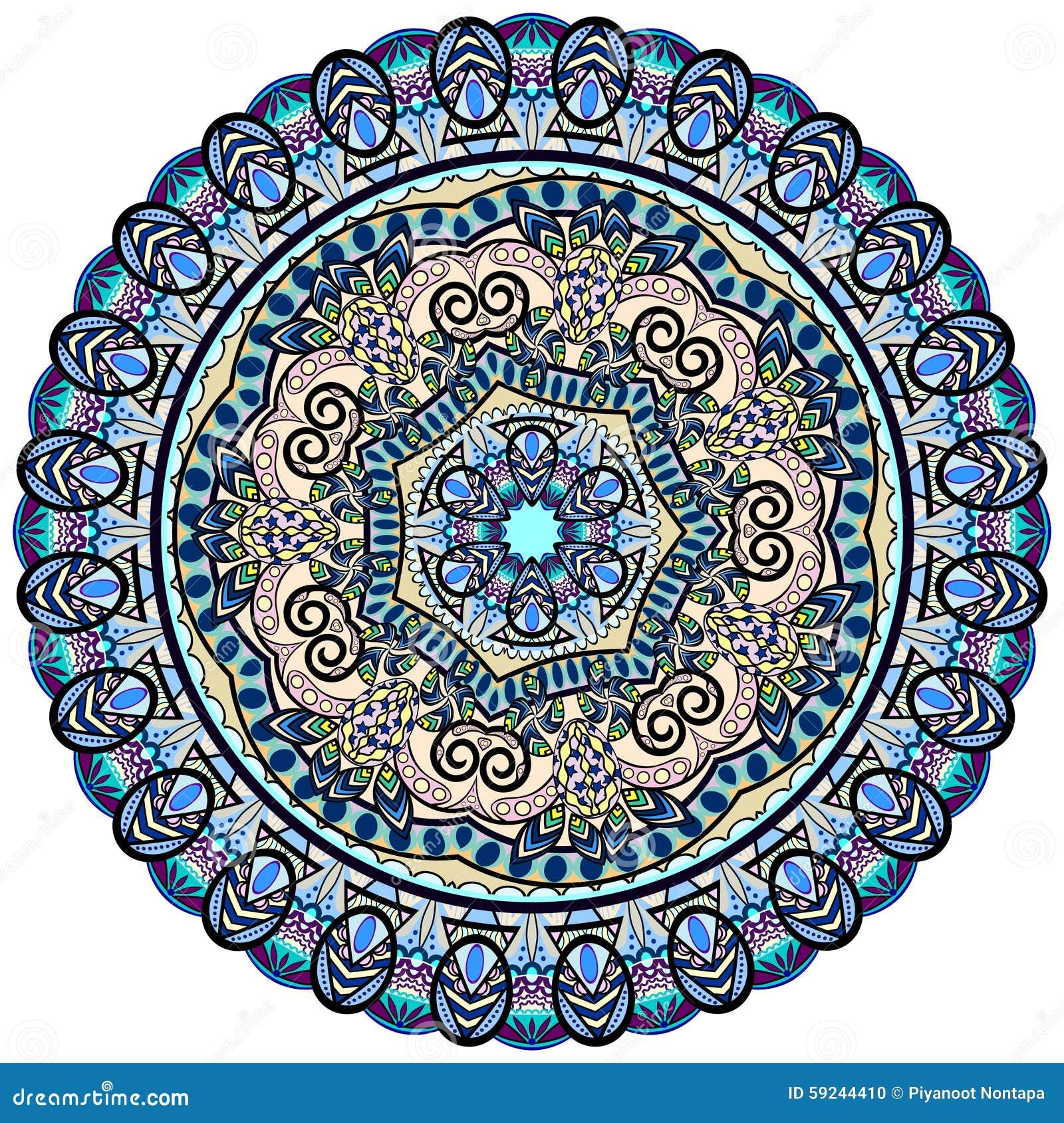 Download Mandala Pattern ilustración del vector. Ilustración de elegante - 59244410