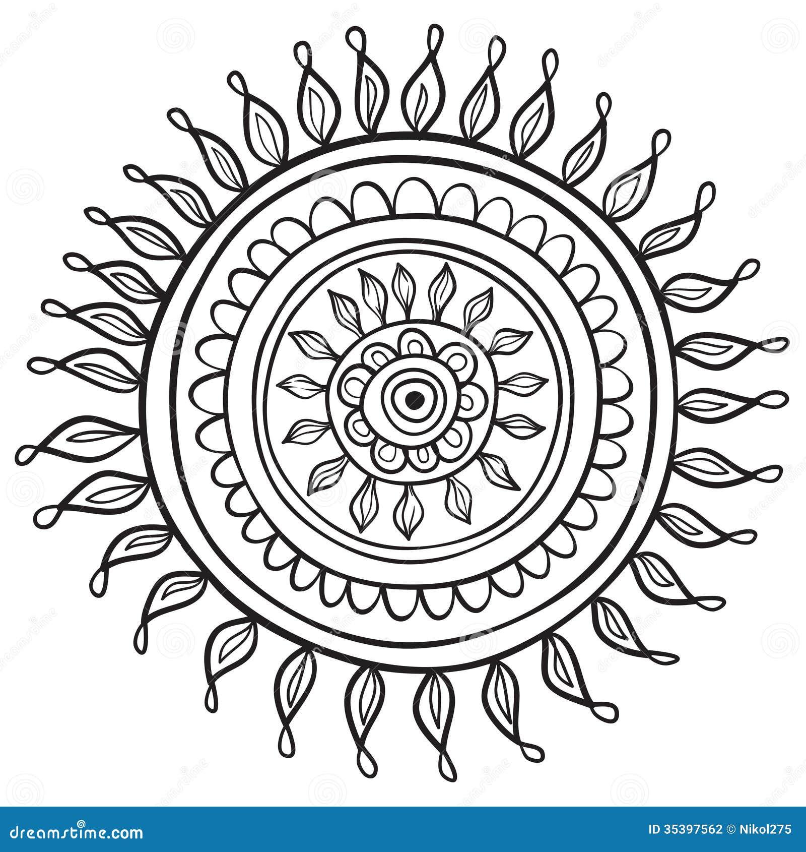 Free ornamental mandala vector download free vector art stock - Mandala Pattern Stock Photography Image 35397562