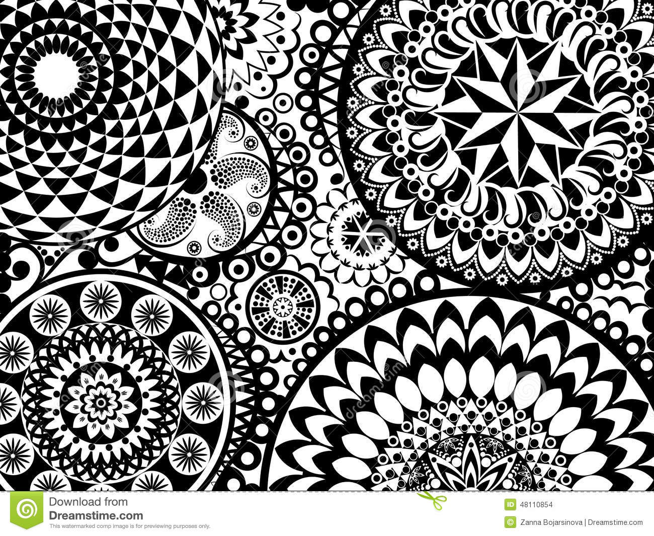 Mandala Pattern Stock Vector - Image: 48110854