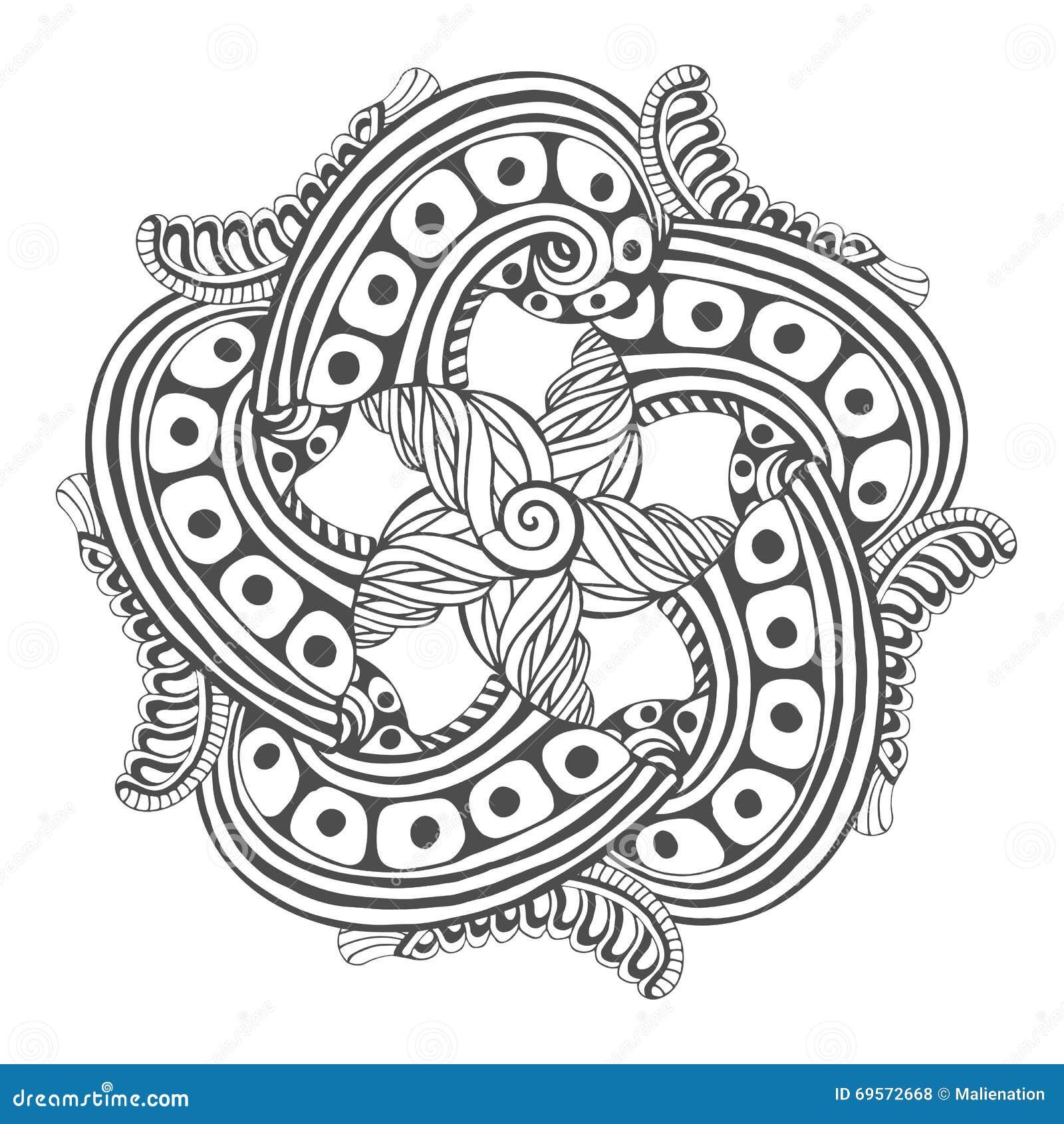 Mandala pour des pages de livre de coloriage mod le d - Modele de mandala ...