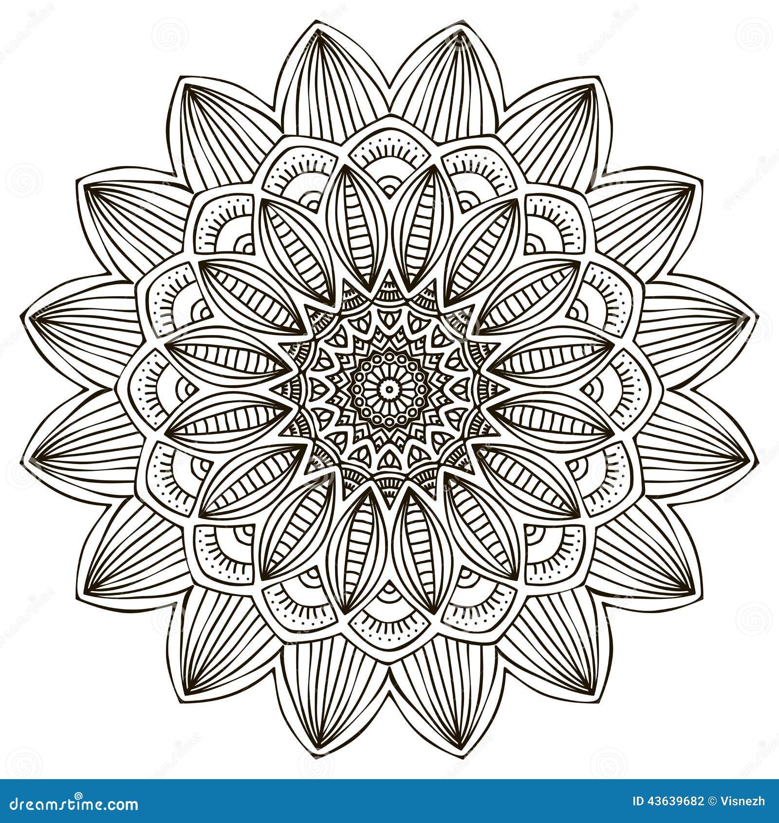 Mandala stock vector. Image of decorate, grunge, islam