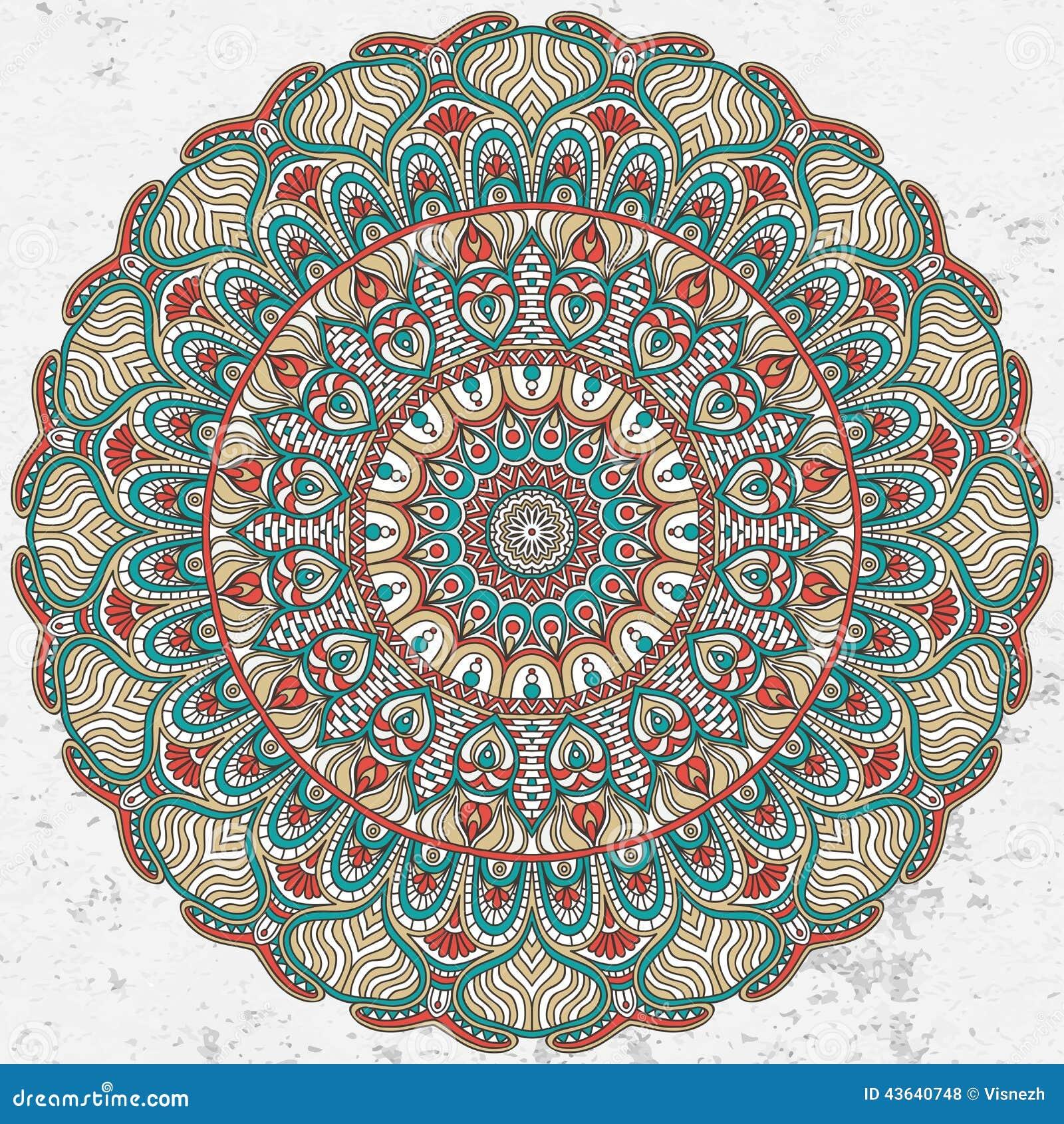 mandala stock vector  image of beautiful  grunge