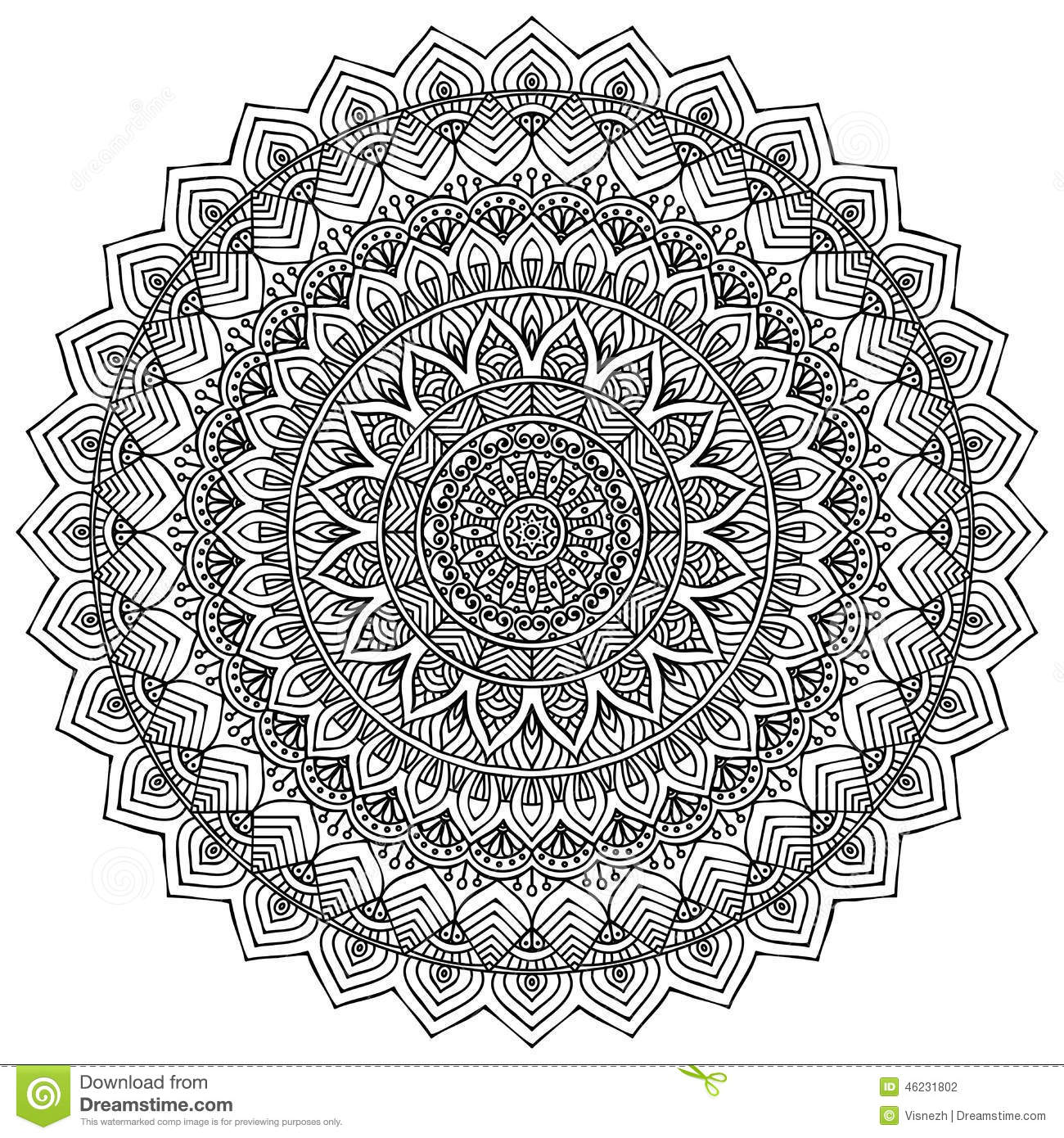 Arabic Mosaic Coloring Pages