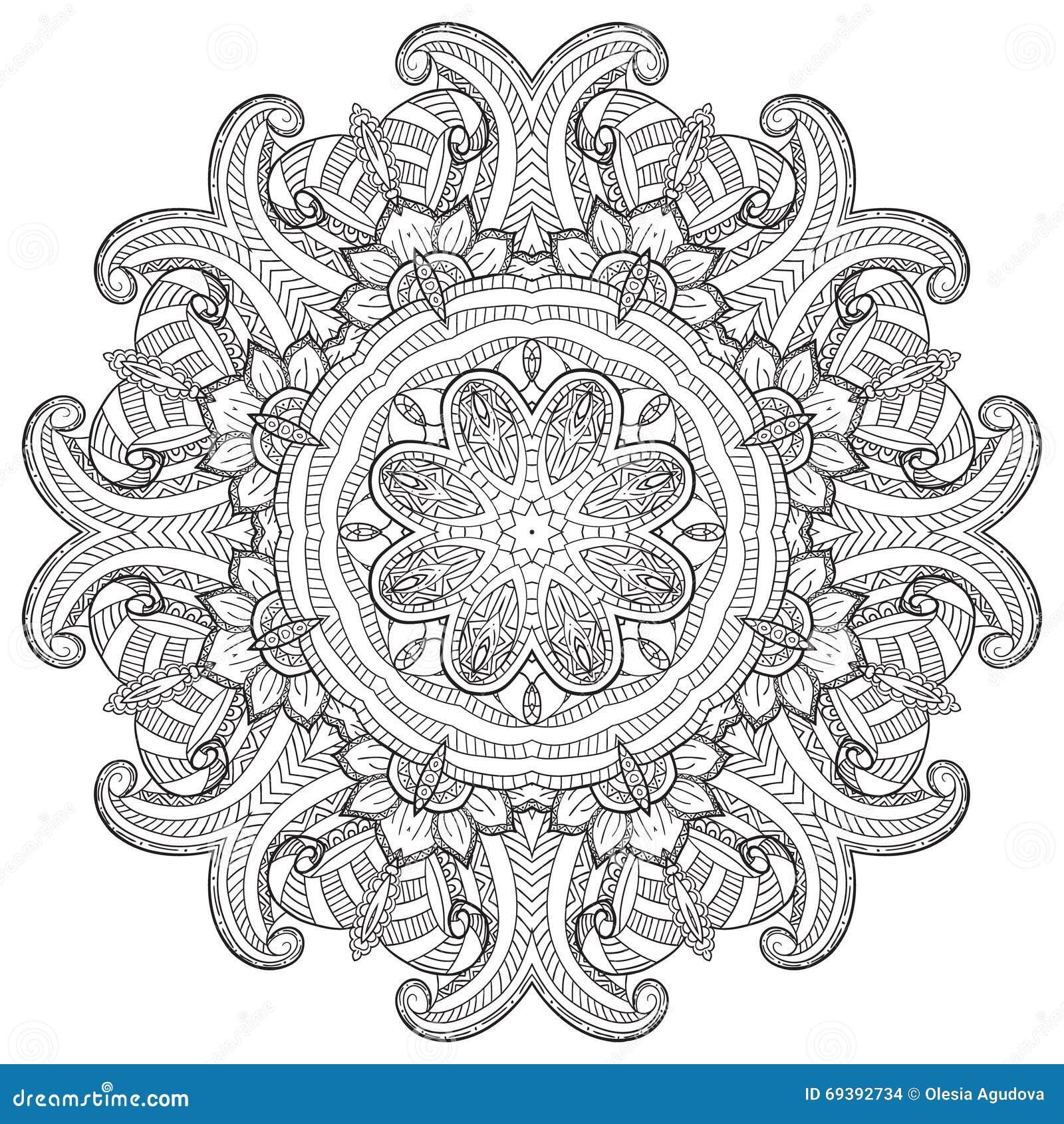 mandala runde verzierung vektor abbildung illustration