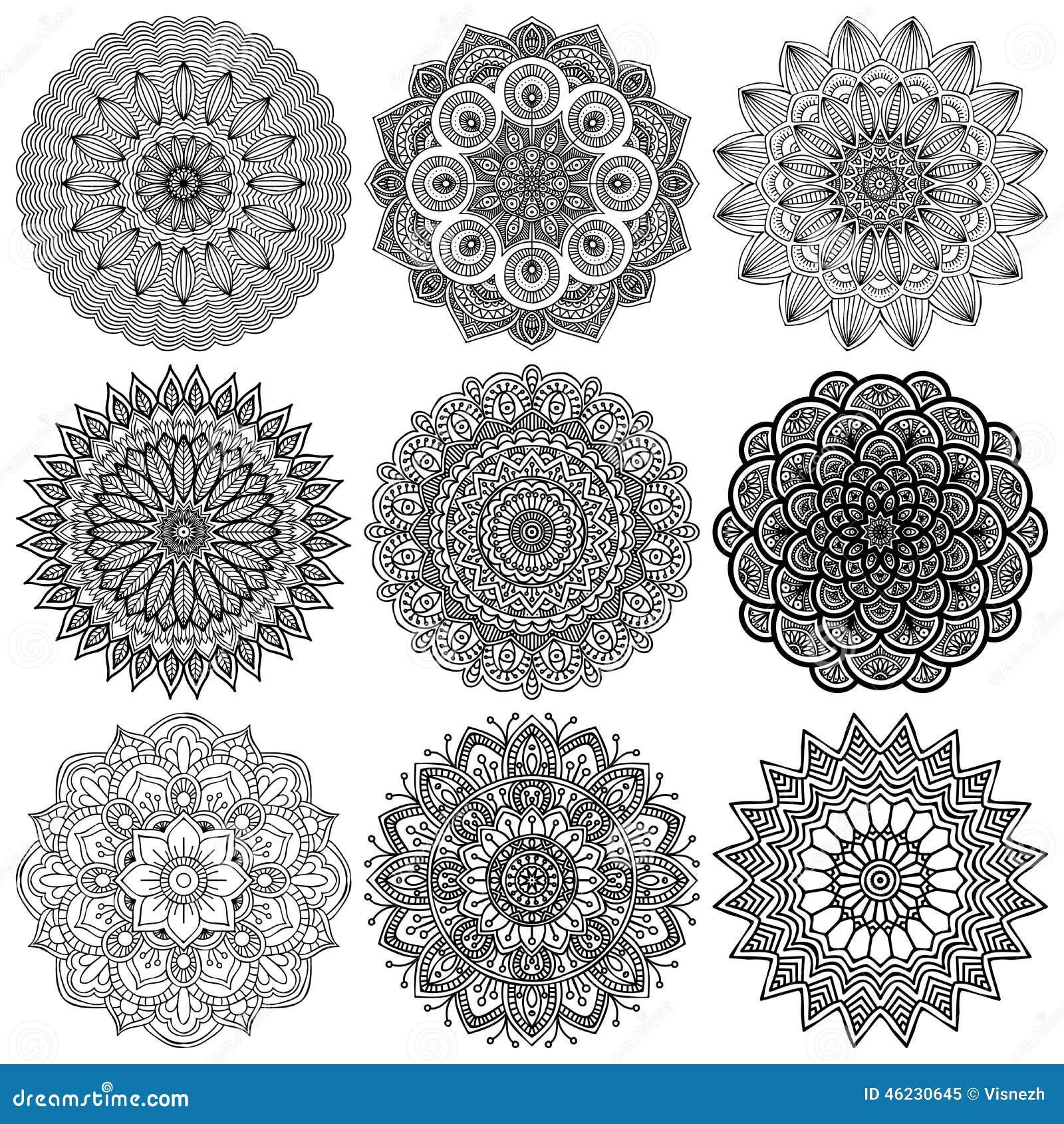 mandala rundes verzierungs muster stock abbildung illustration von dekoration einladung 46230645. Black Bedroom Furniture Sets. Home Design Ideas