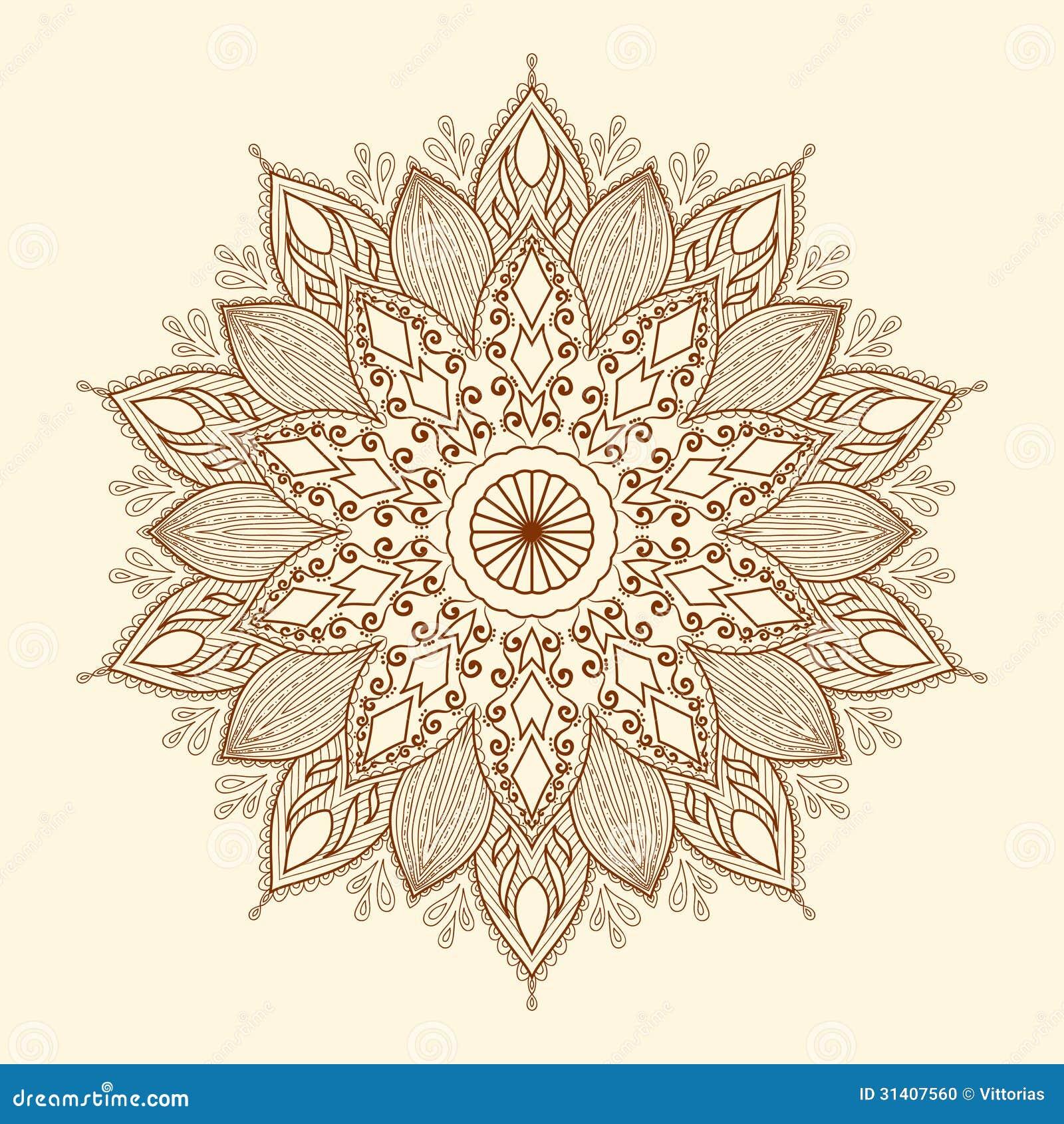 mandala sch ne von hand gezeichnete blume vektor abbildung illustration von stickerei henna. Black Bedroom Furniture Sets. Home Design Ideas