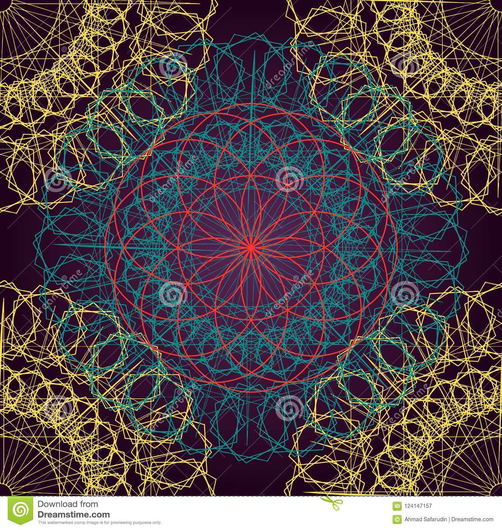 Vector Modern Seamless Pattern Sacred Geometry Vector