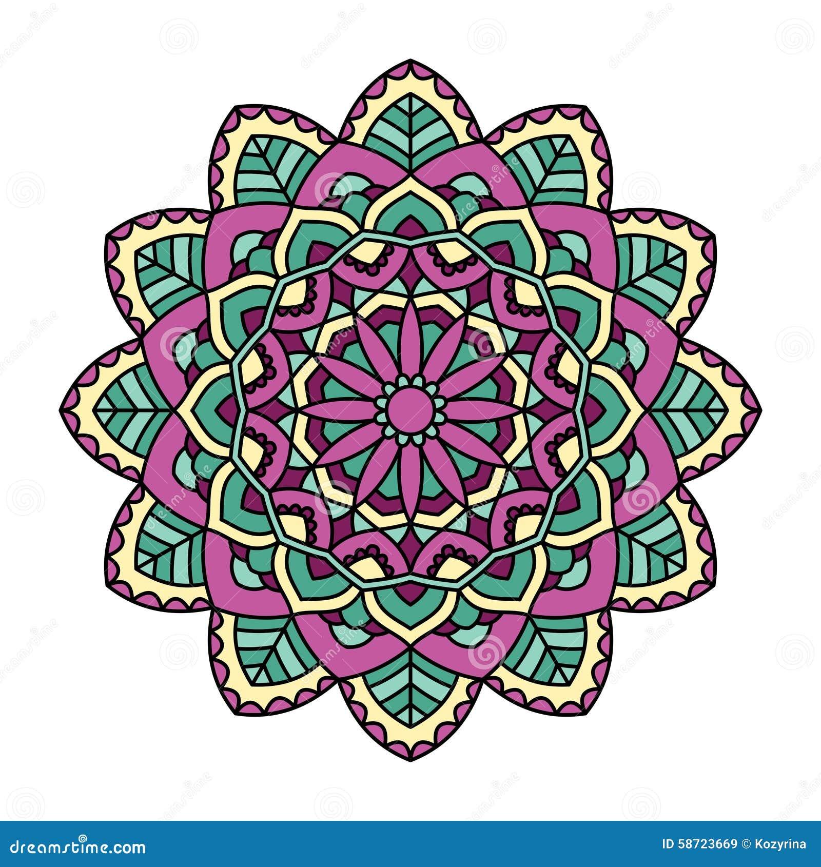 Mandala Sier rond patroon
