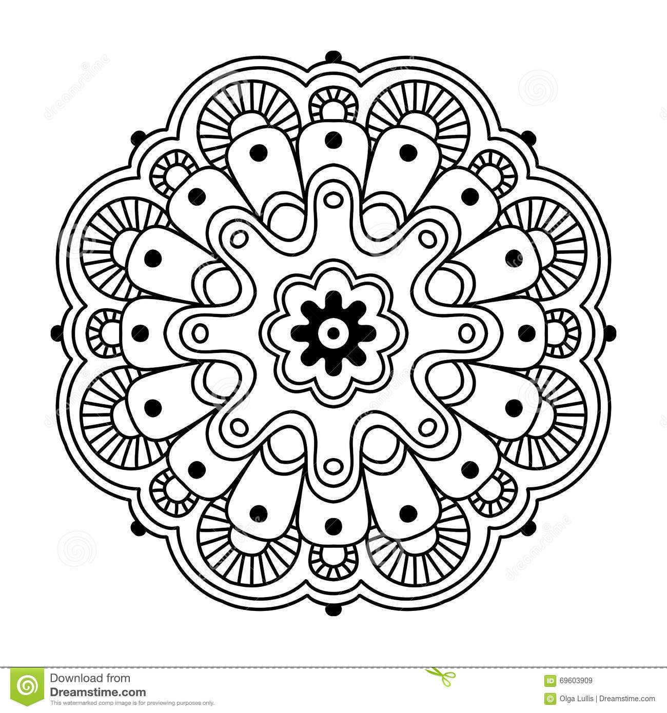 Simple Lotus Flower Coloring Page