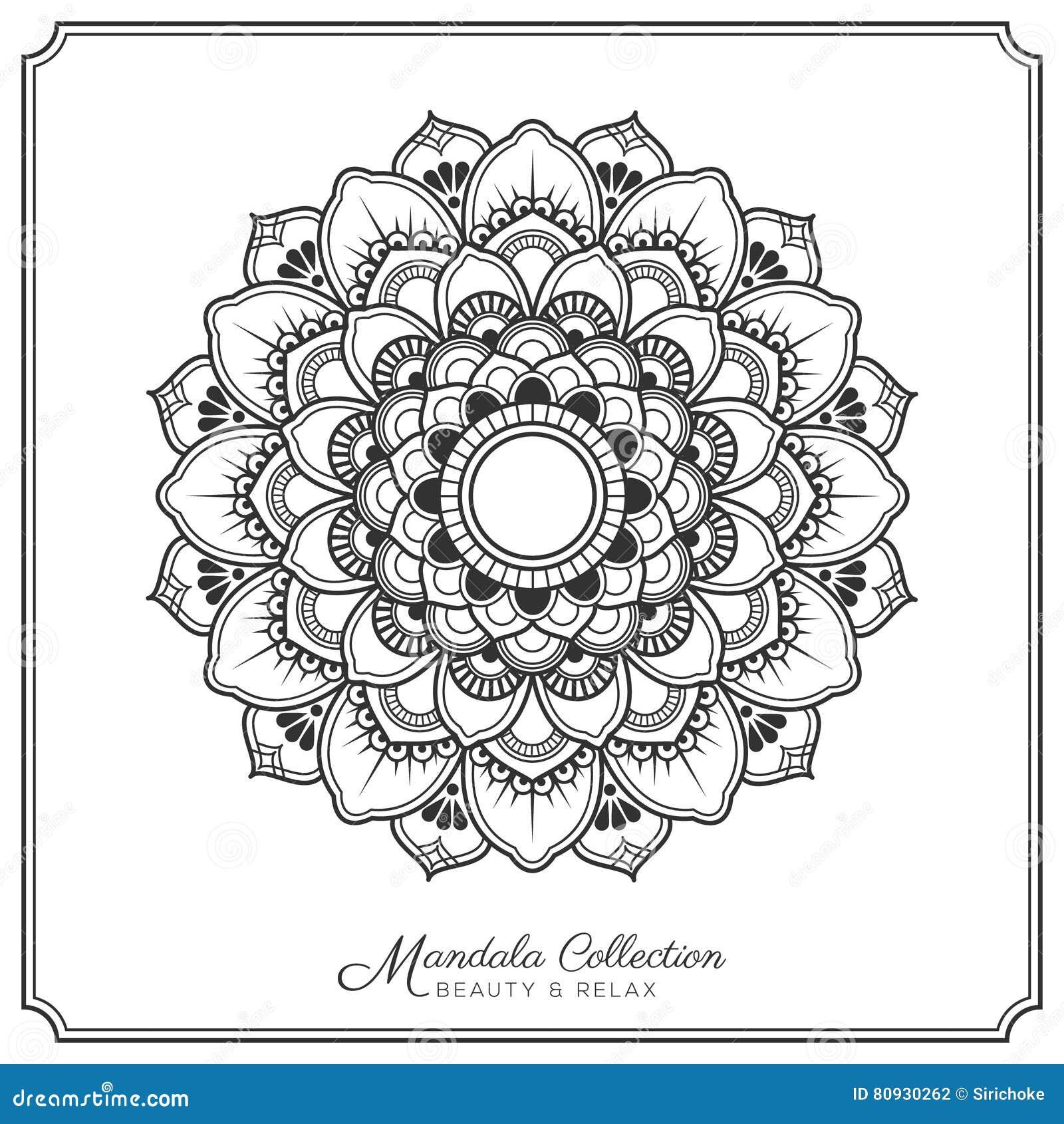 Mandala Tattoo Design Template Ilustración Del Vector Ilustración