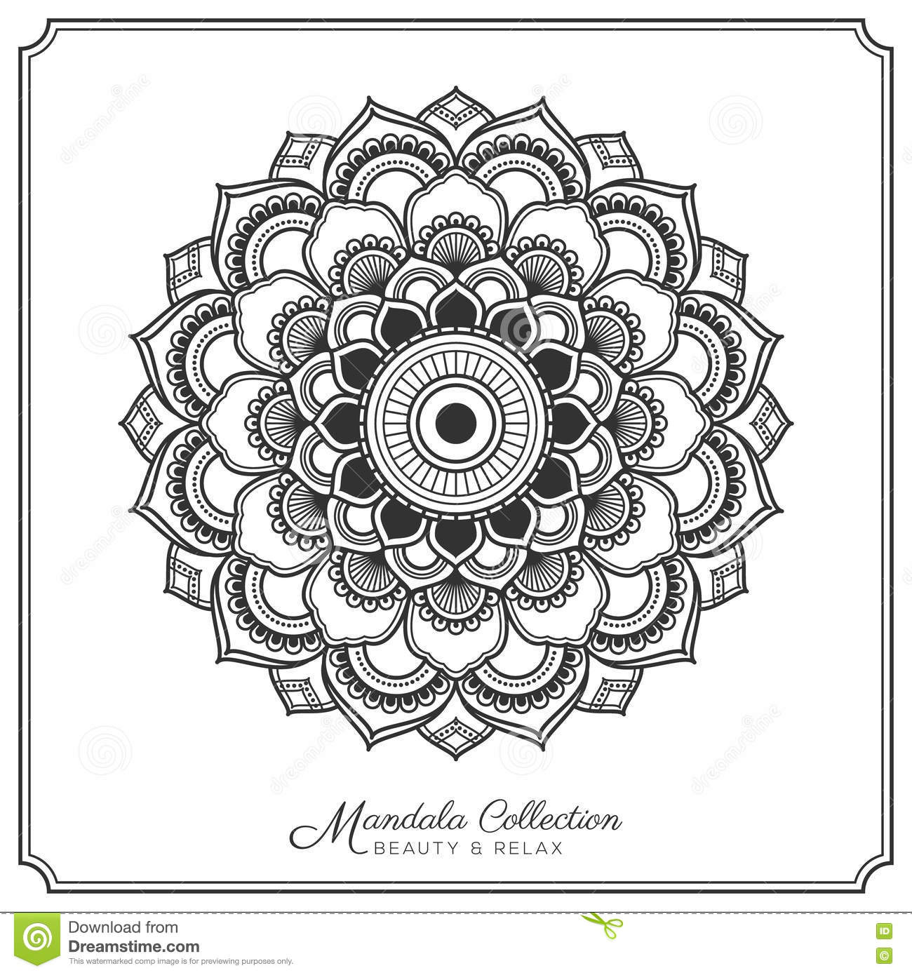 Mandala Tattoo Design Template Stock Vector Illustration Of Floral Chevy Equinox Engine Diagram Decorative Ornament For Coloring Page Greeting Card Invitation Yoga And Spa Symbol