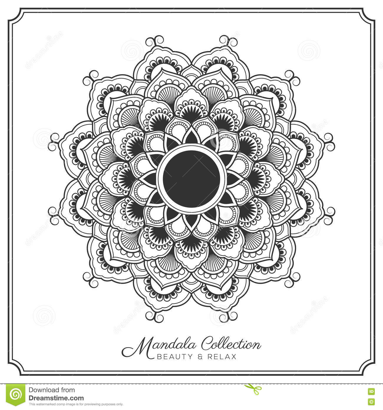 Mandala Tattoo Design Template Stock Vector Illustration Of Henna Chevy Equinox Engine Diagram Decorative Ornament For Coloring Page Greeting Card Invitation Yoga And Spa Symbol