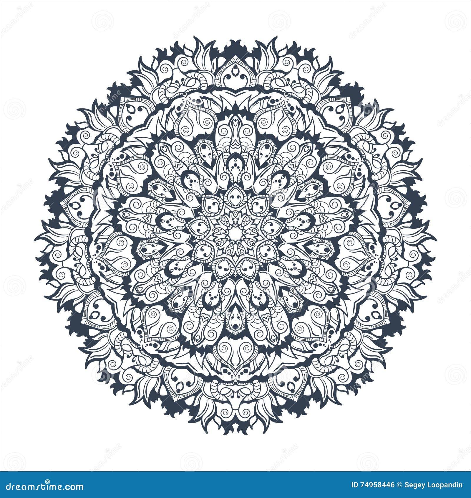 Mandala Tibetain Sur Le Fond Sans Couture Illustration Stock