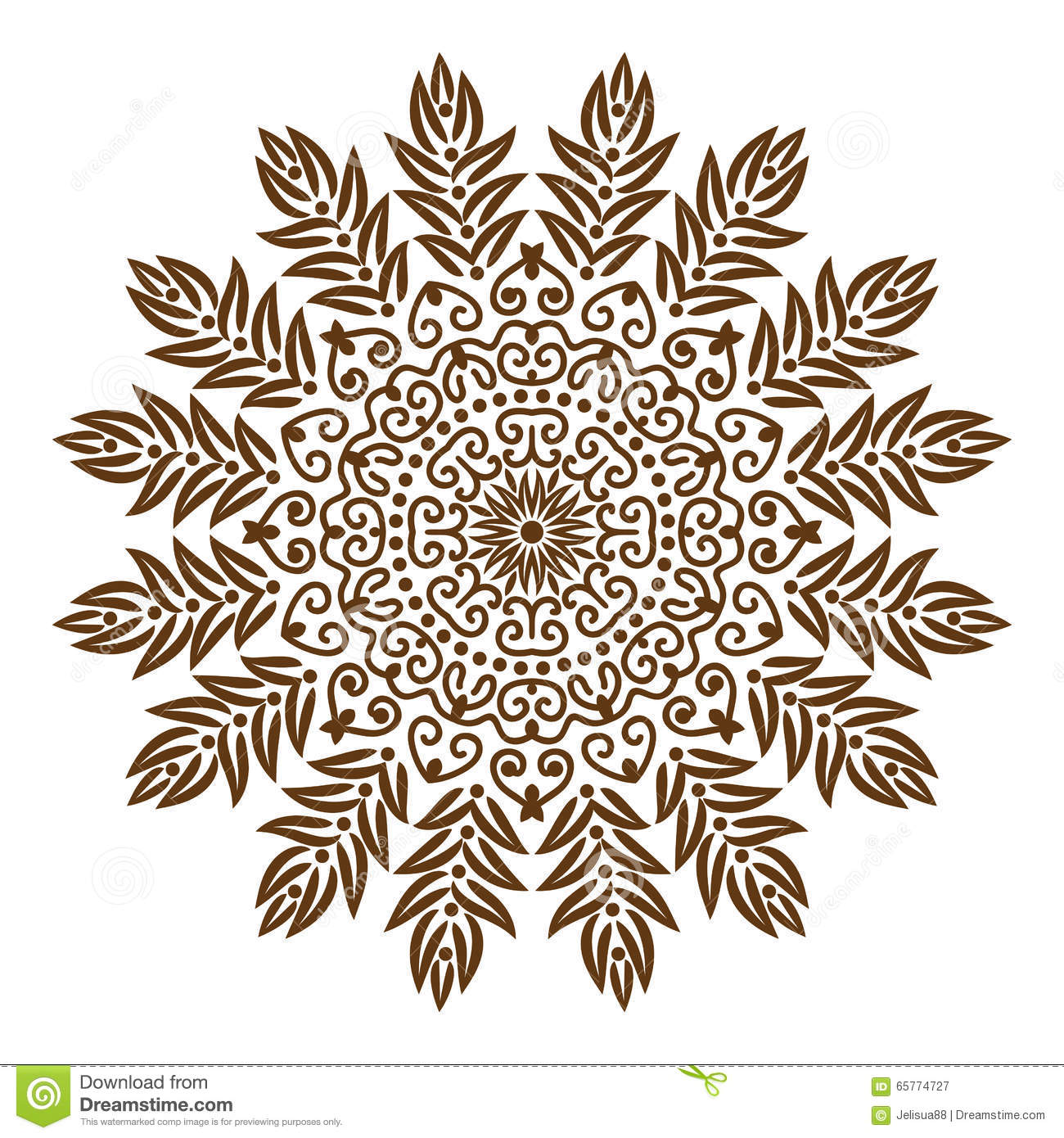 Henna Mehndi Opening Times : Mandala tibetan stock vector image of decor illustration