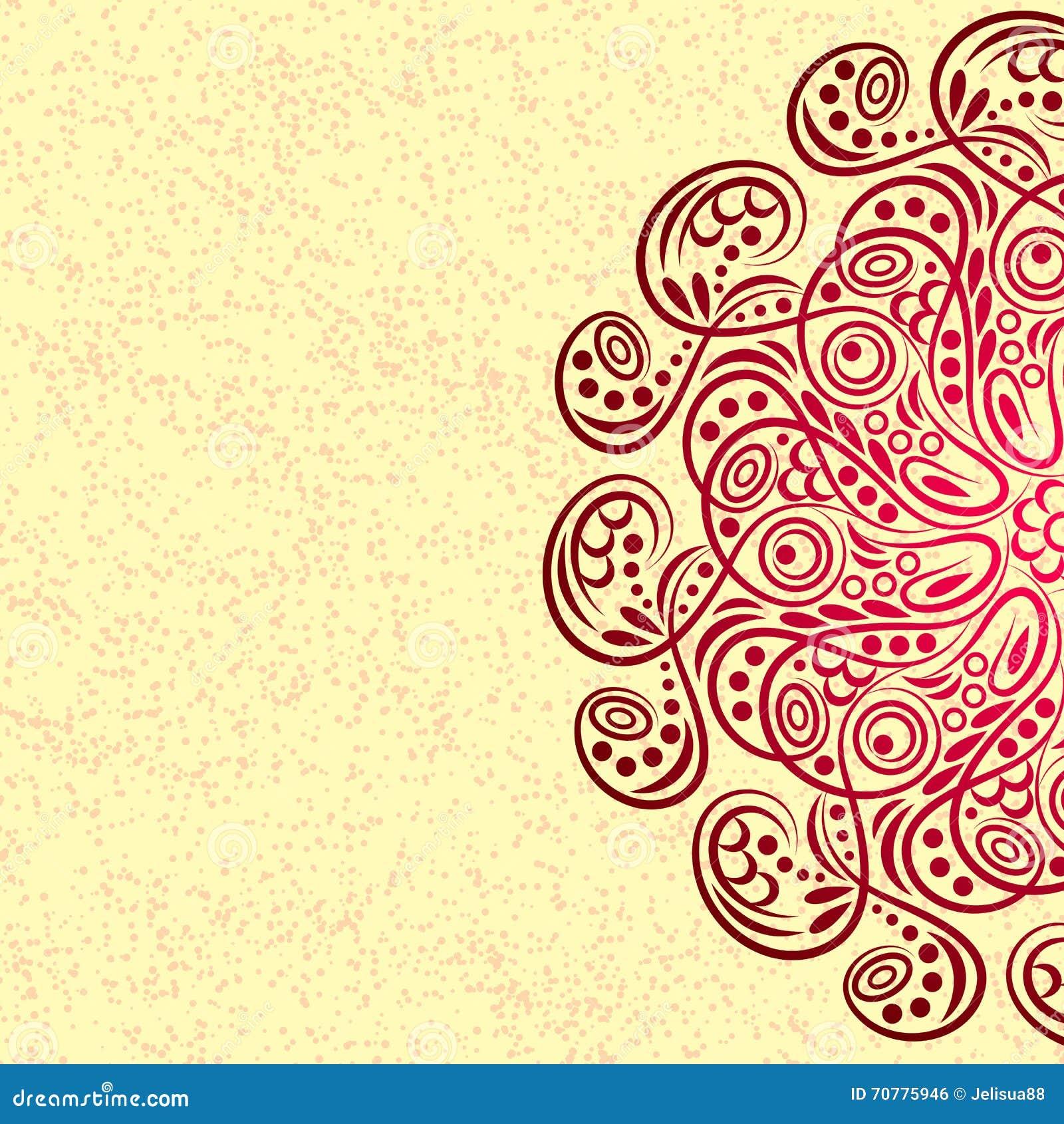 Mandala, tribal vintage stock vector. Illustration of arabic - 70775946