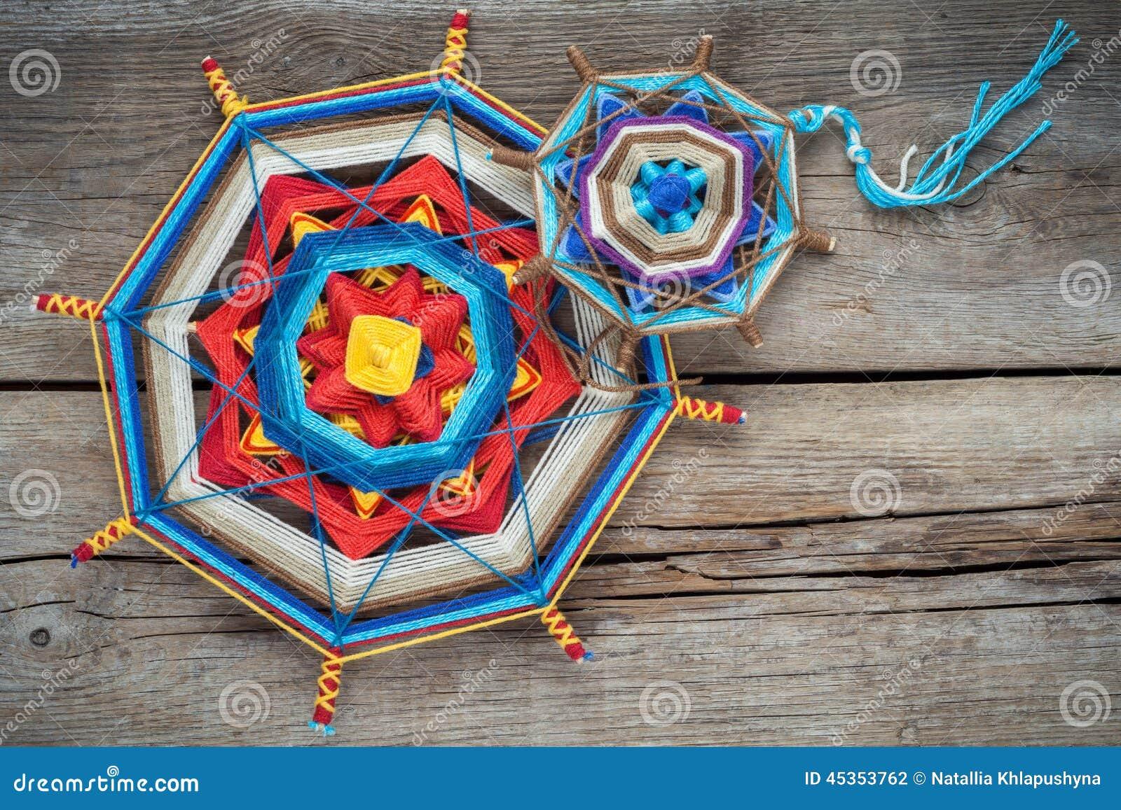 Mandala tricoté