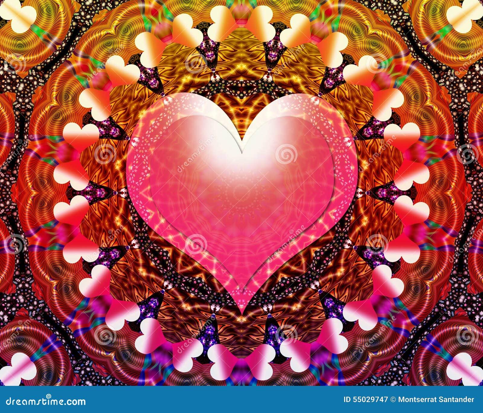 Mandala Universale Di Energia Di Amore Illustrazione Di Stock