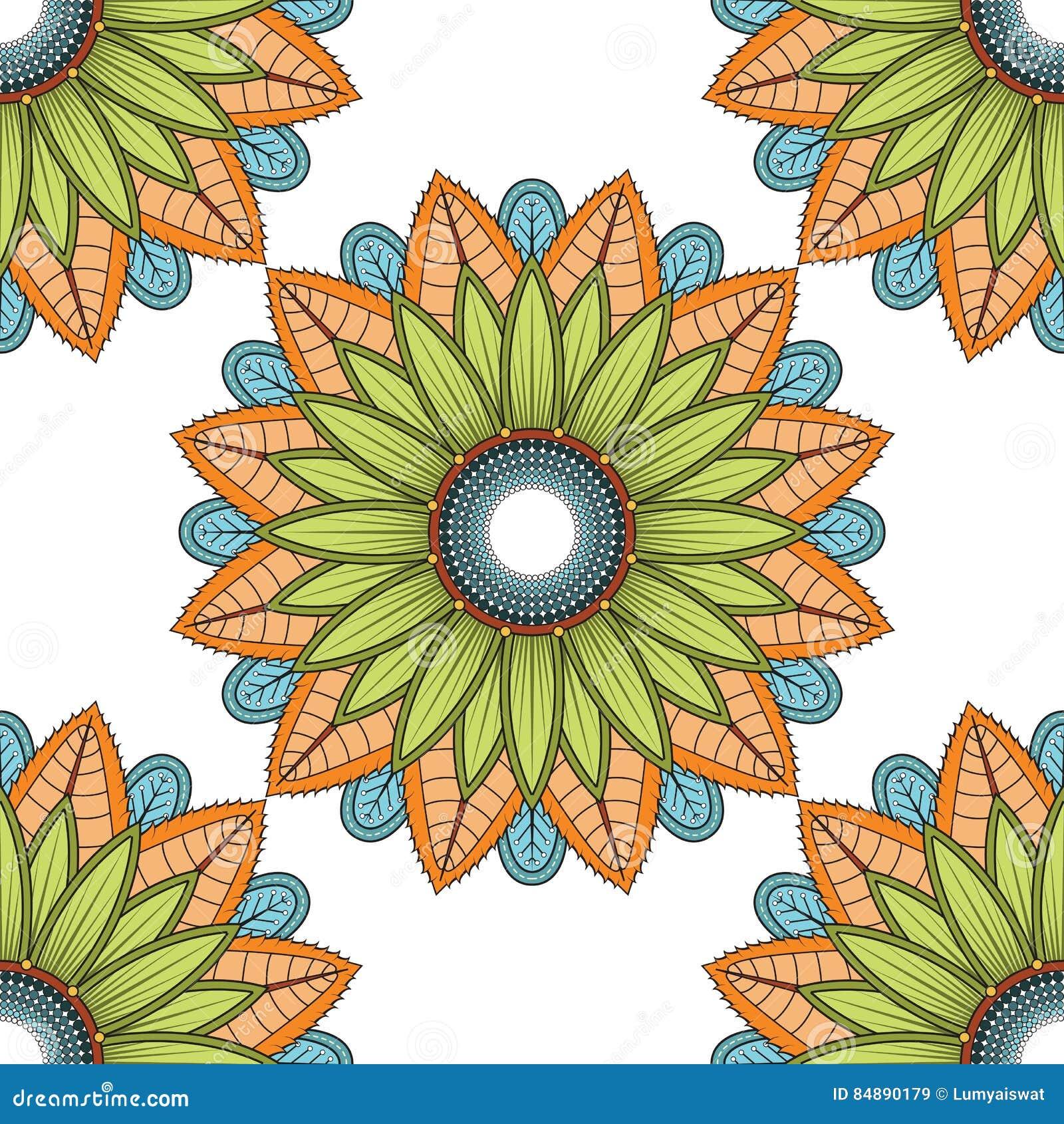Download Mandala Vector Floral Color Flower Oriental Stock