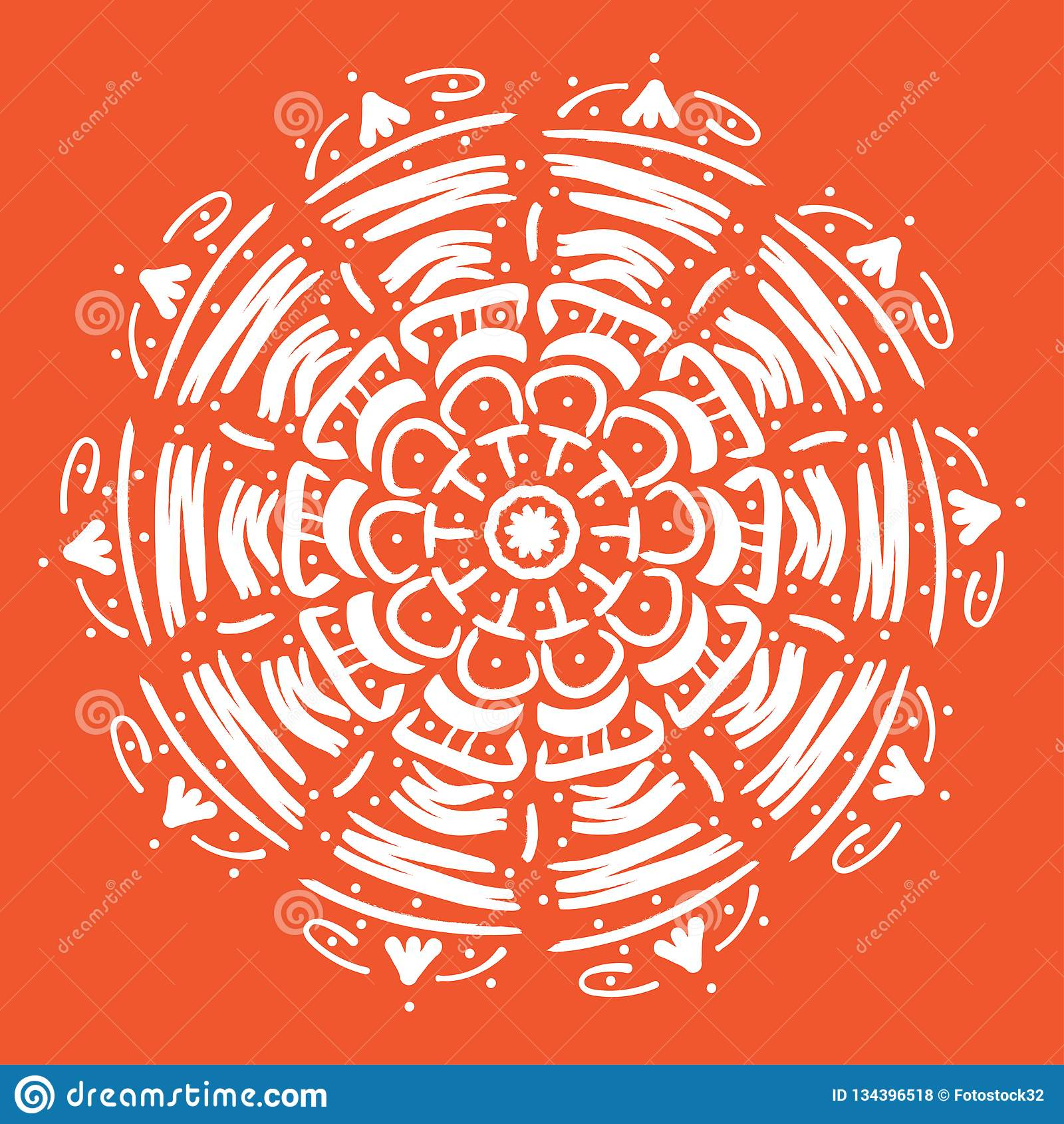 Mandala vectorillustratie Rond abstract bloemen oosters patroon, uitstekende decoratieve elementen