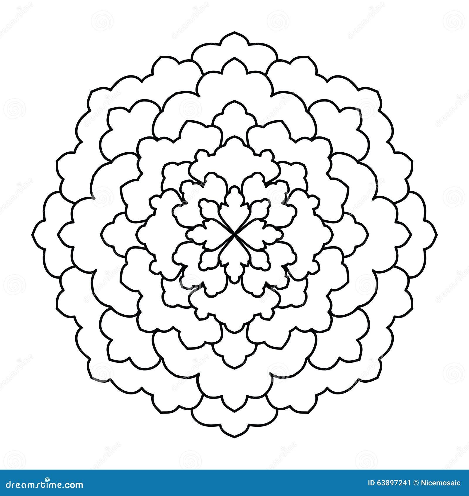 Mandala. Vintage Round Ornament Pattern. Islamic, Arabic, Indian ...
