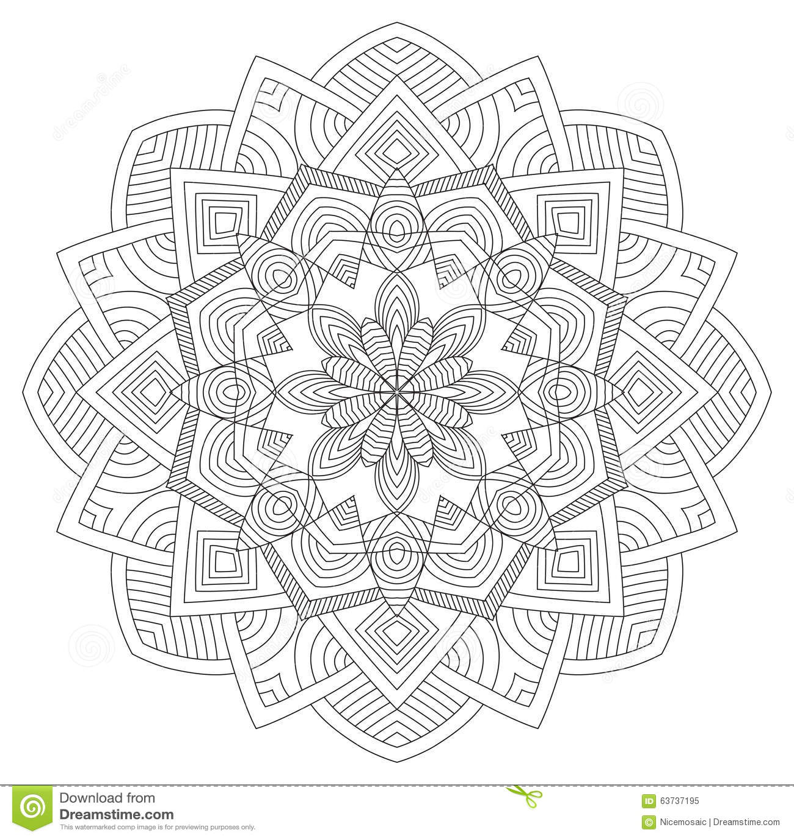 mandala weinlese rundes verzierungs muster islamisch arabisch indisch vektor abbildung bild. Black Bedroom Furniture Sets. Home Design Ideas