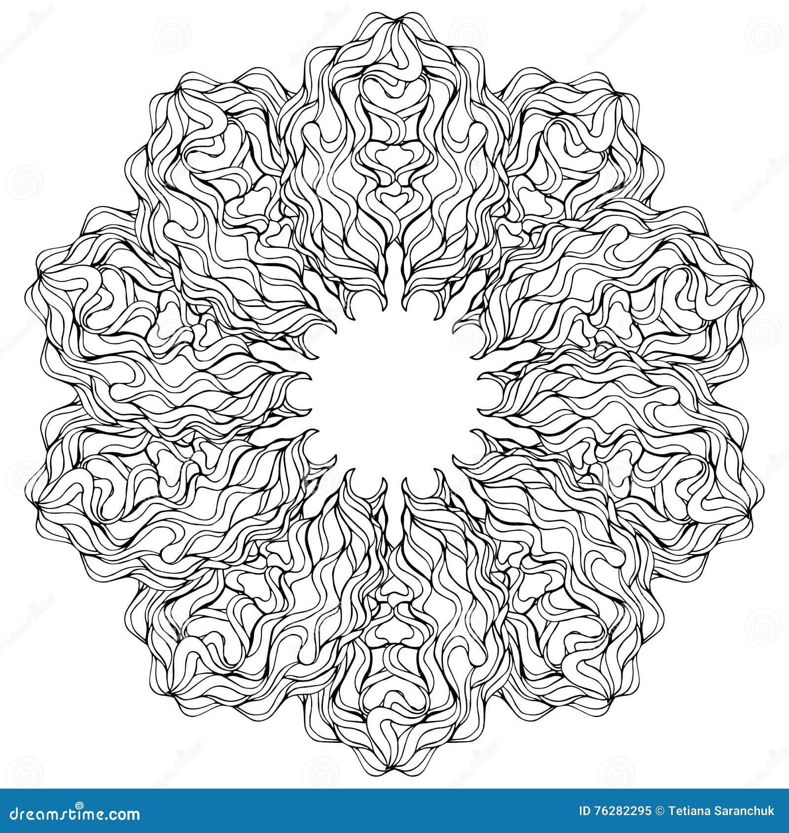 Mandala wektoru karta na bia ym tle kolorystyki ksi ki for Mandala da colorare con animali