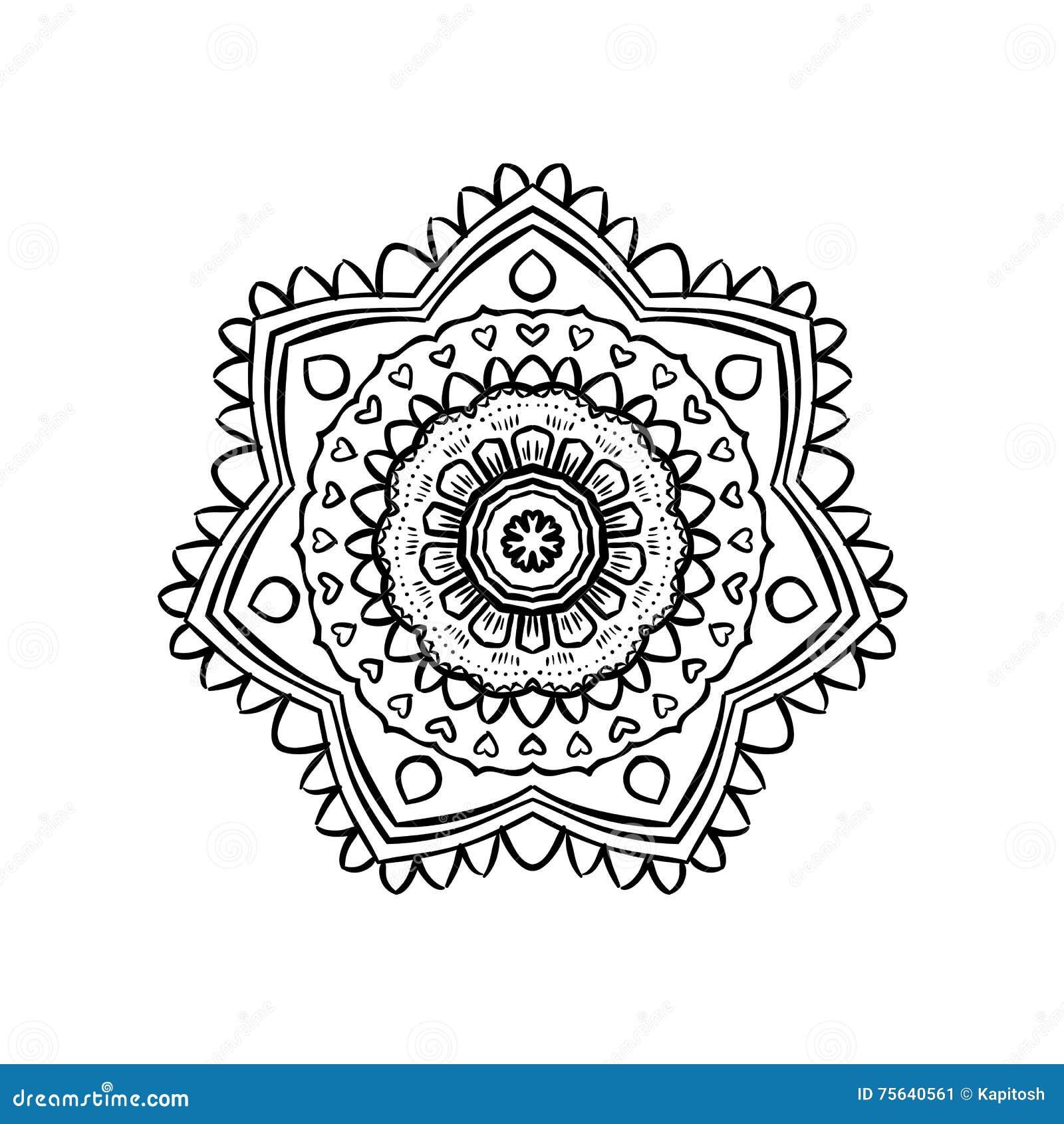 Mandala Yoga Pattern Stock Vector Image 75640561