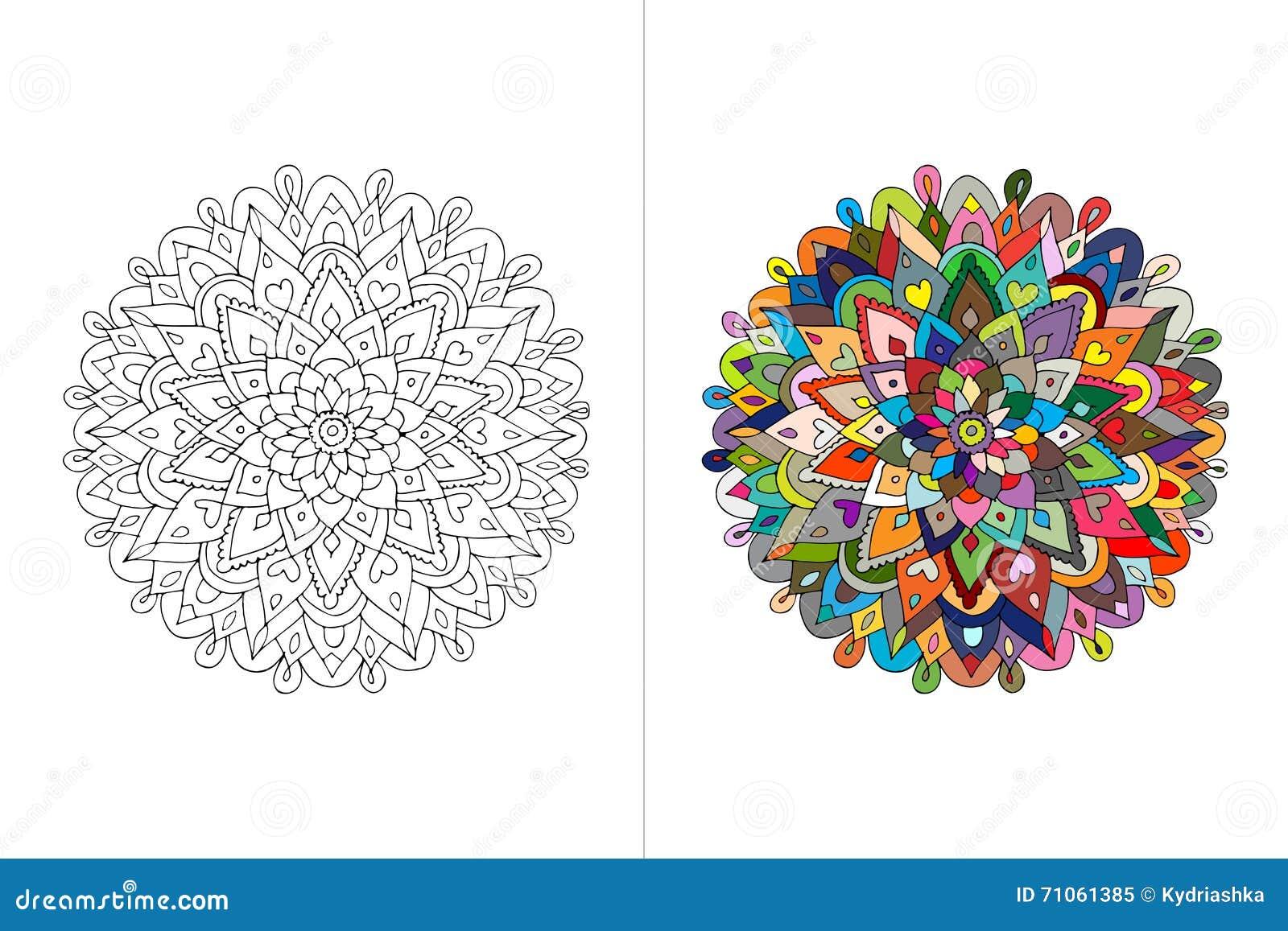 Mandalaprydnad, gjord hand - skissa för din design