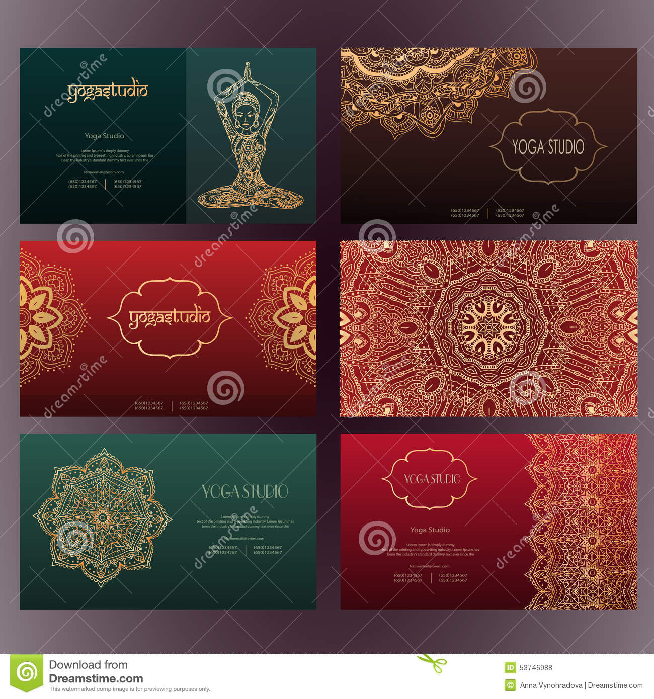 Yoga business cards free gallery card design and card template yoga business card stock vector illustration of label 63906948 mandalas business card 4 yoga royalty free reheart Images
