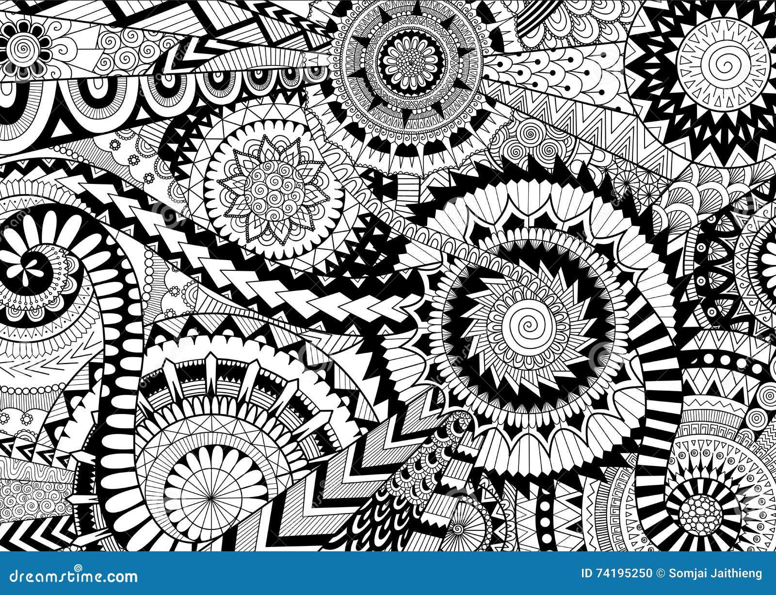 Mandalas Compliques Illustration De Vecteur Illustration Du