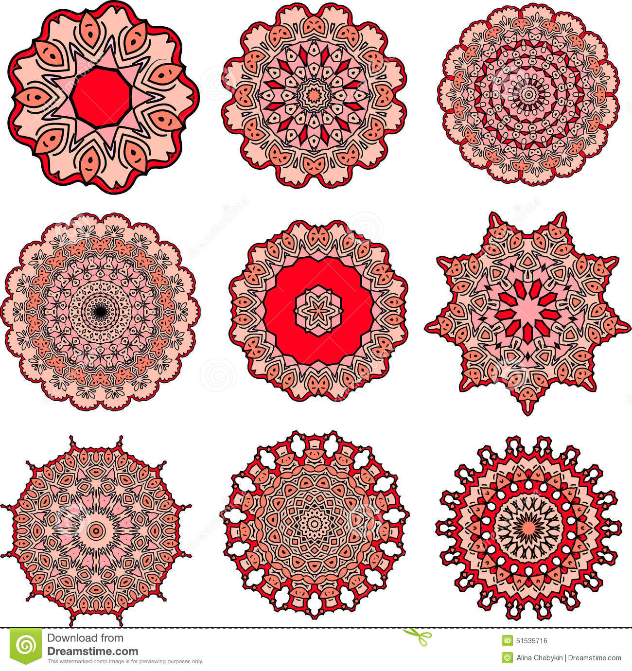 Mandalas de l 39 amour illustration de vecteur image 51535716 - Mandala amour ...