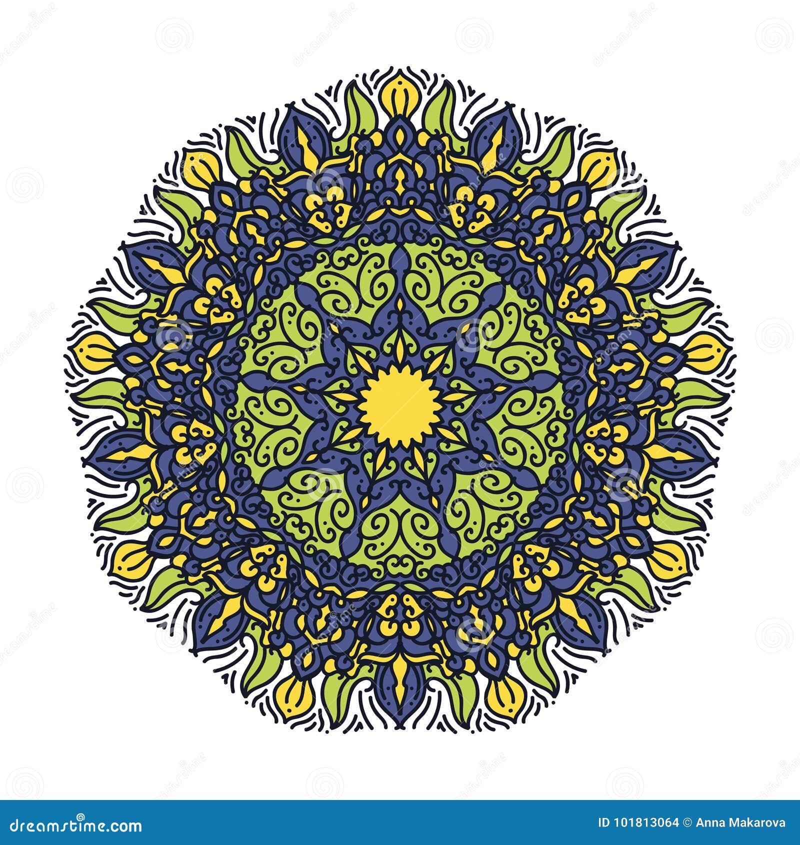 Mandalas De La Flor Elementos Decorativos De La Vendimia Modelo - Mandalas-indios