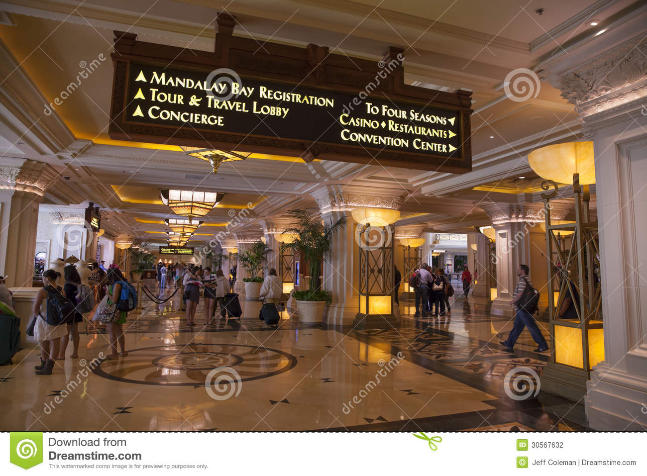 Delightful Download Mandalay Bay Registration Area In Las Vegas, NV On April 19, 201  Editorial Gallery