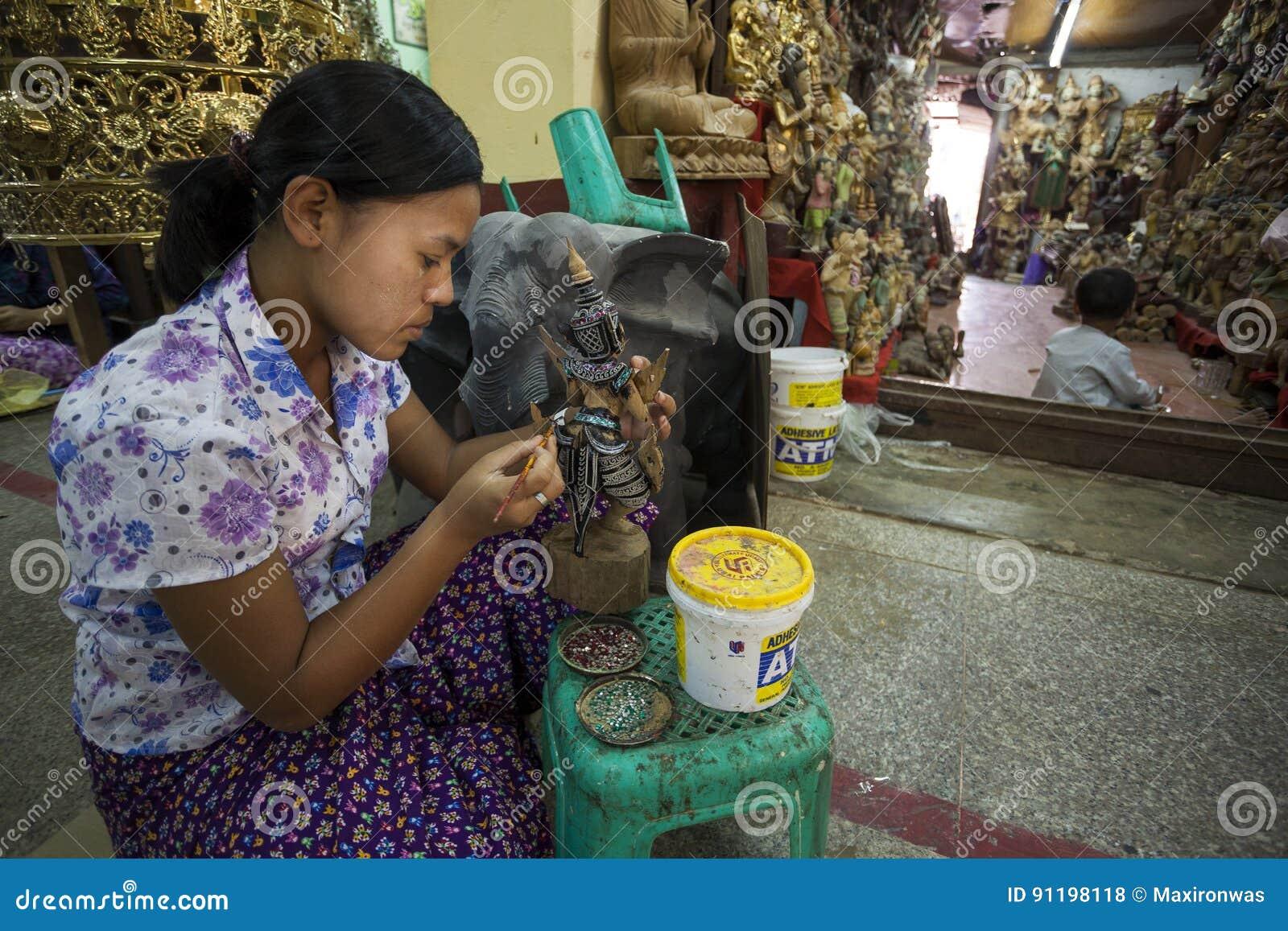 Mandalay - fábrica de las mercancías