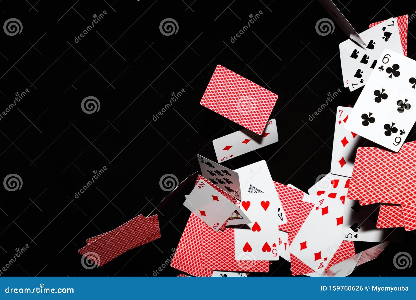 Playing Card With Black Background Poker Blackjack Stock Photo Image Of Gambling Mandalaymyanmar 159760626