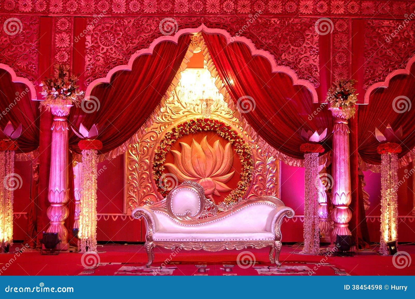 Mandap indiano da fase do casamento