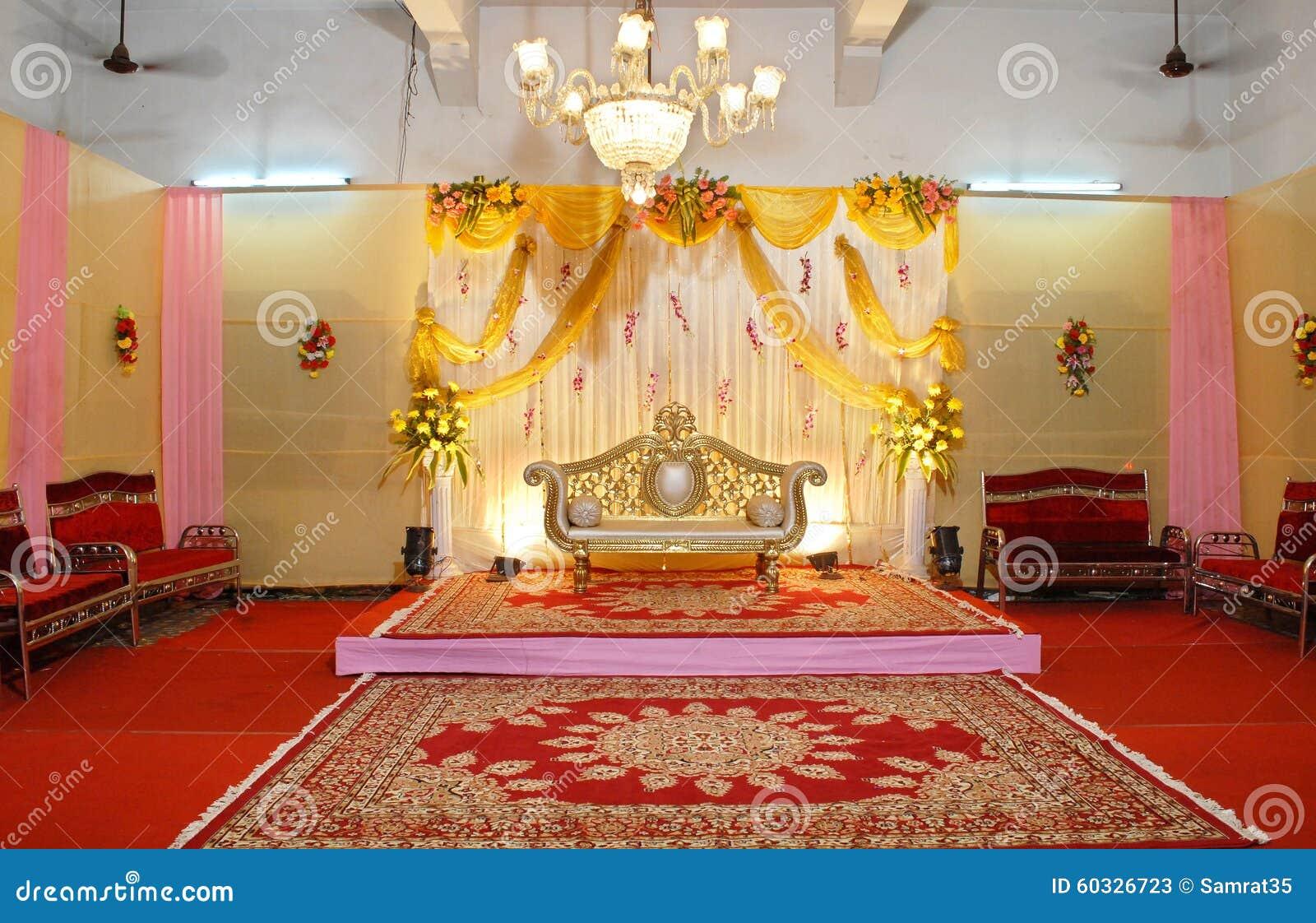 Mandap indiano di cerimonia nuziale
