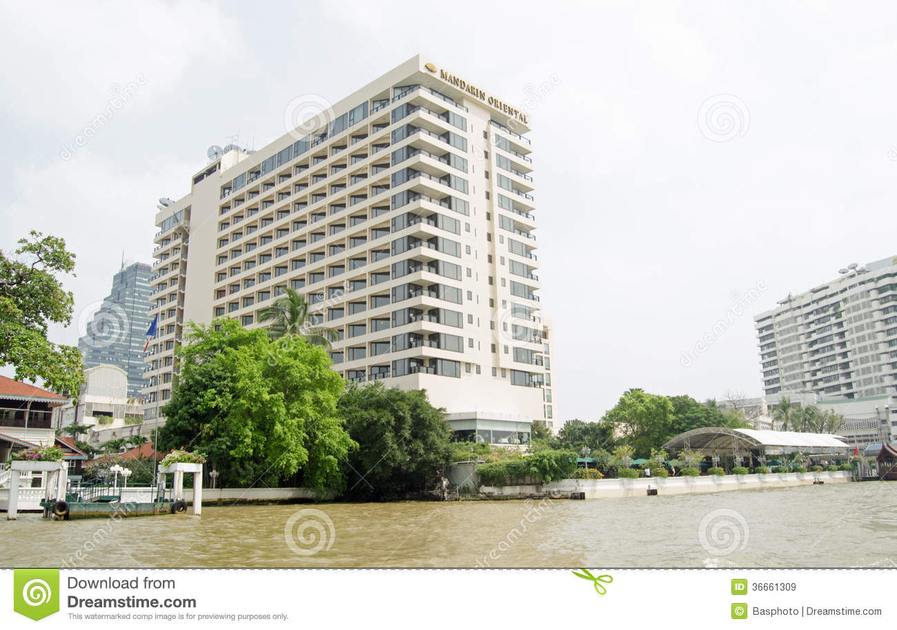 Mandarin Oriental Hotel Bangkok Thailand October View Chao Phraya River Five Star Thailand There