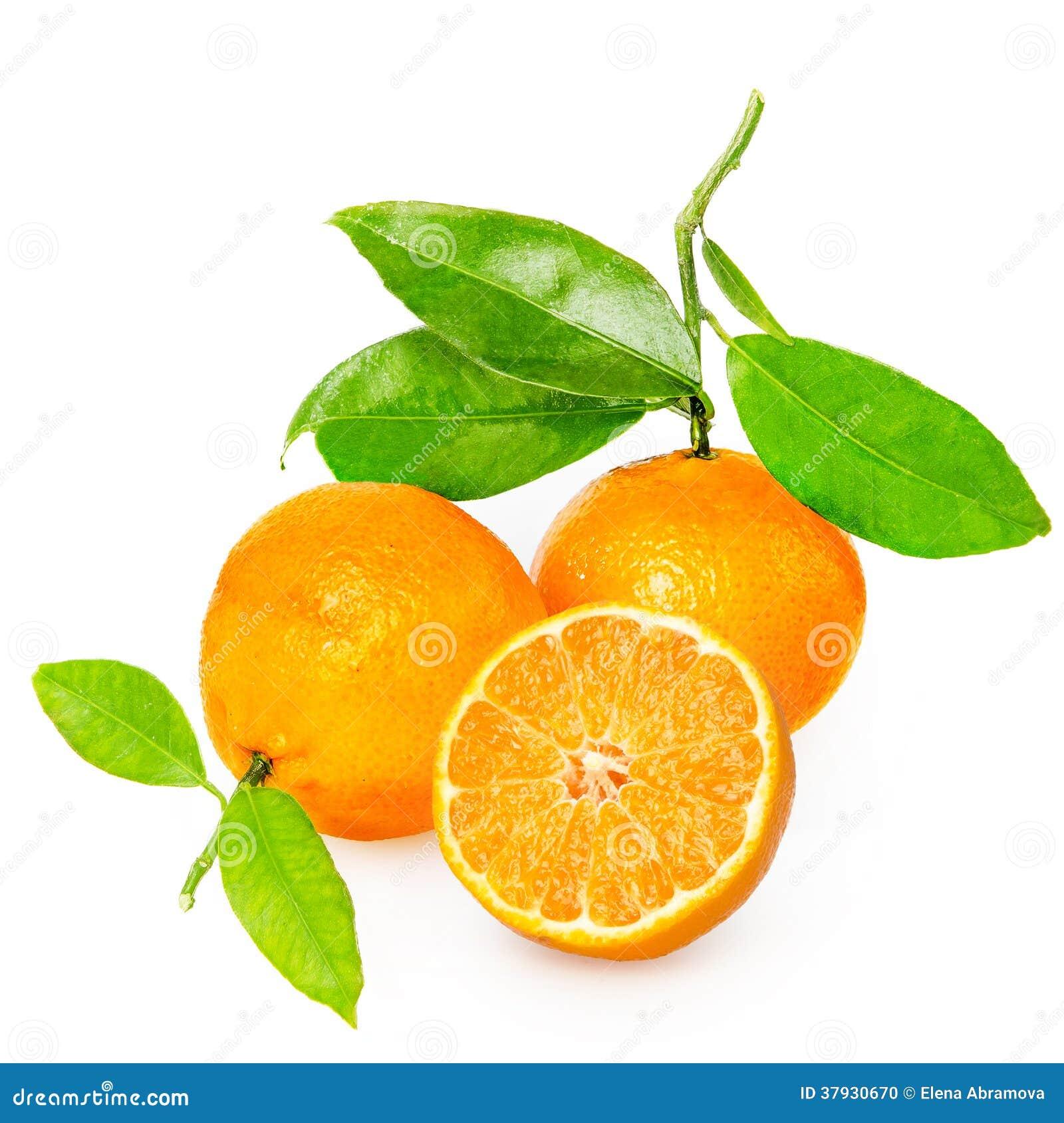 Mandarina con segmentos