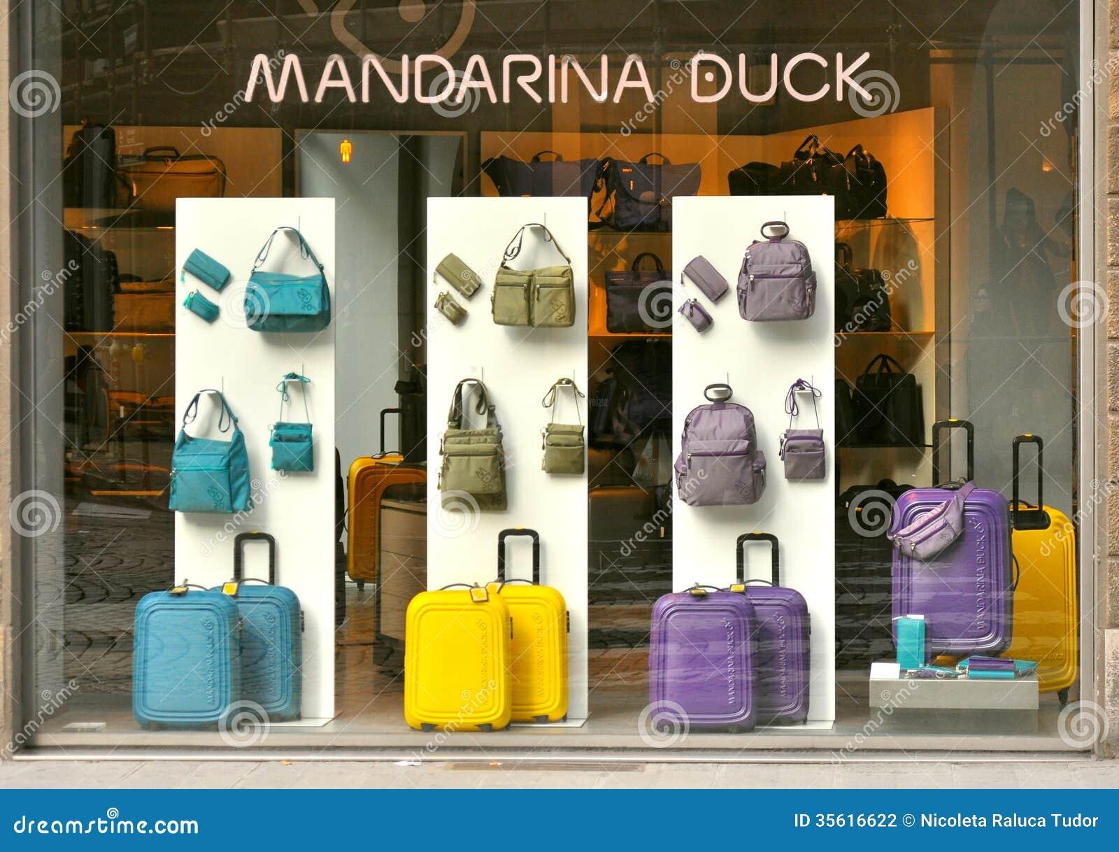 Mandarina Duck Bag Fashion Shop In Italy Editorial Photography ...